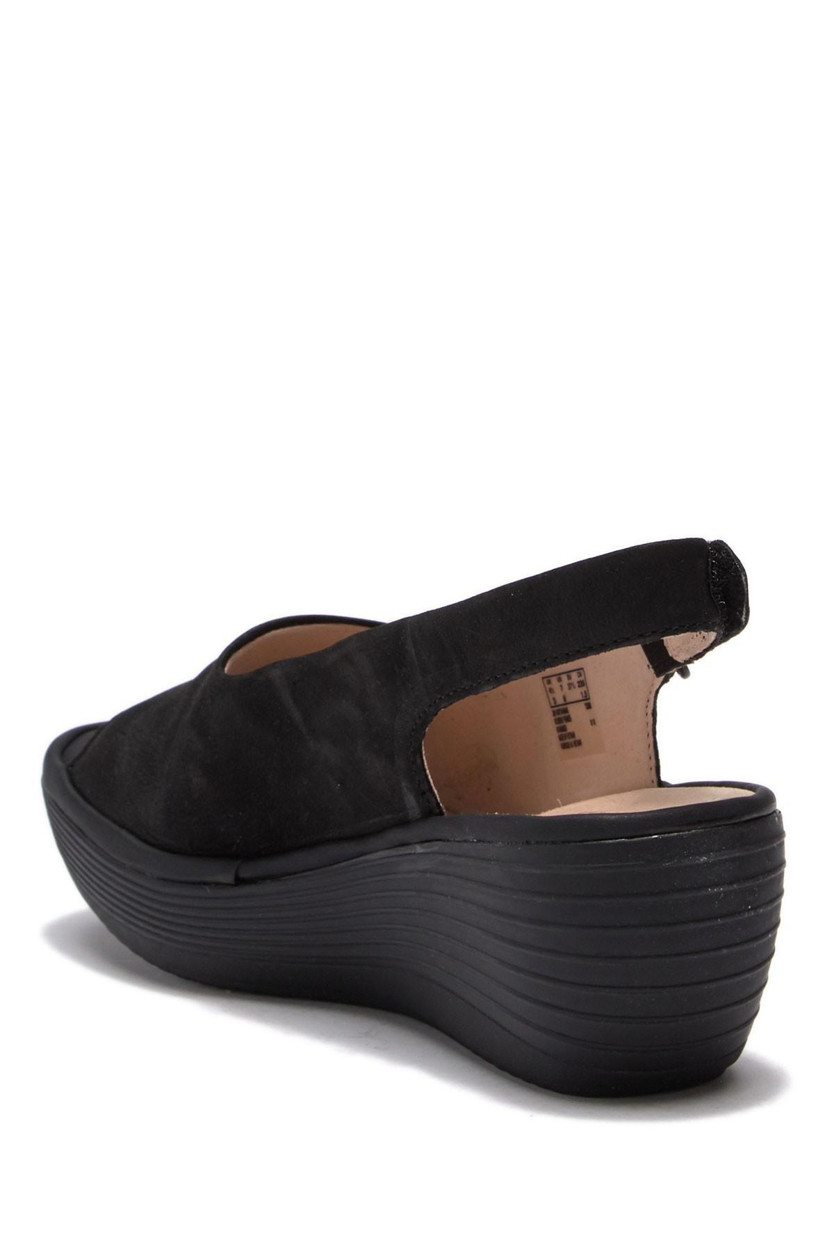 3128181fe95 Clarks - Black Reedly Shania Wedge Sandals - Lyst. View fullscreen