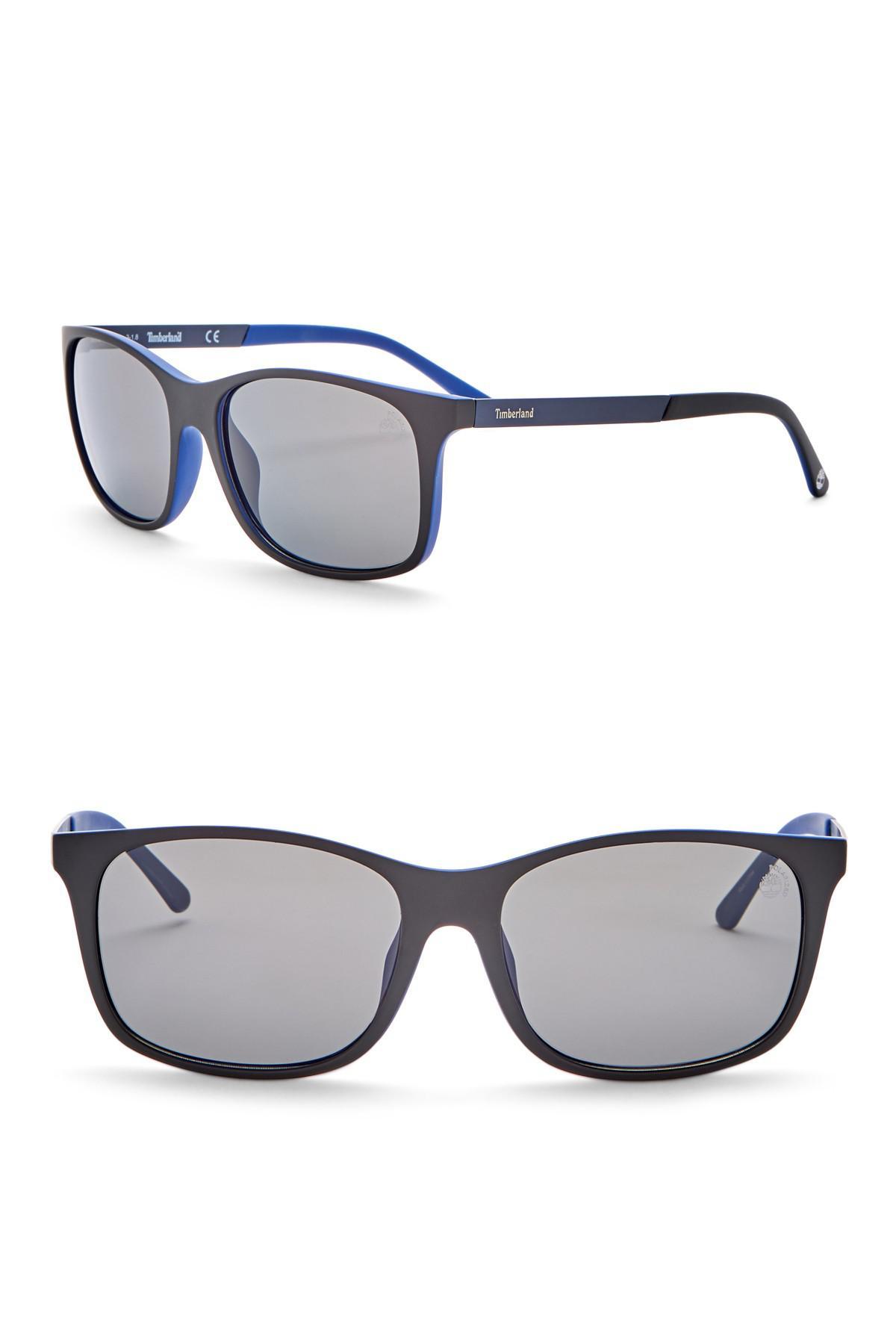 8941df77e53 Timberland - Multicolor Square 56mm Polarized Sunglasses for Men - Lyst.  View fullscreen