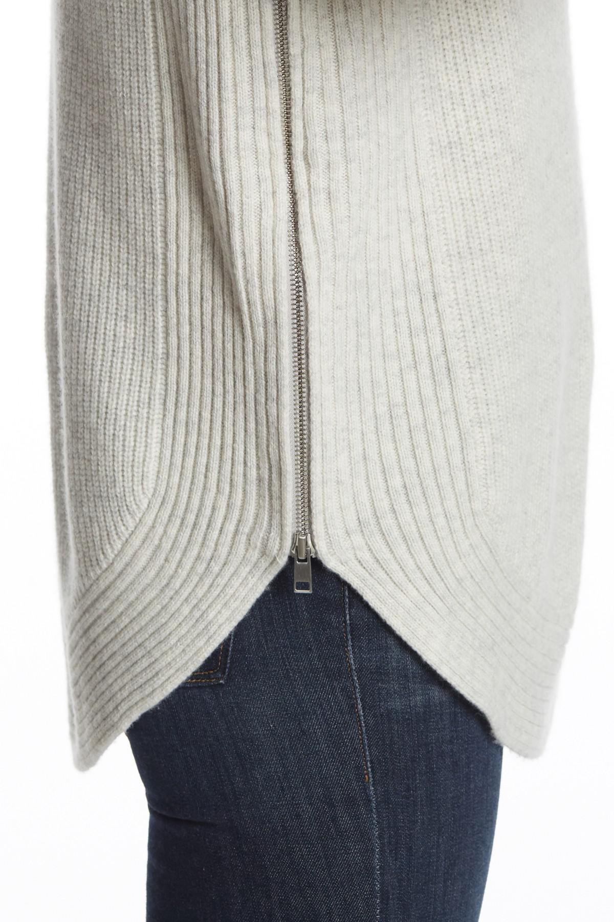 1301d890bec5a Lyst - Vince Side Zip Wool Blend Turtleneck