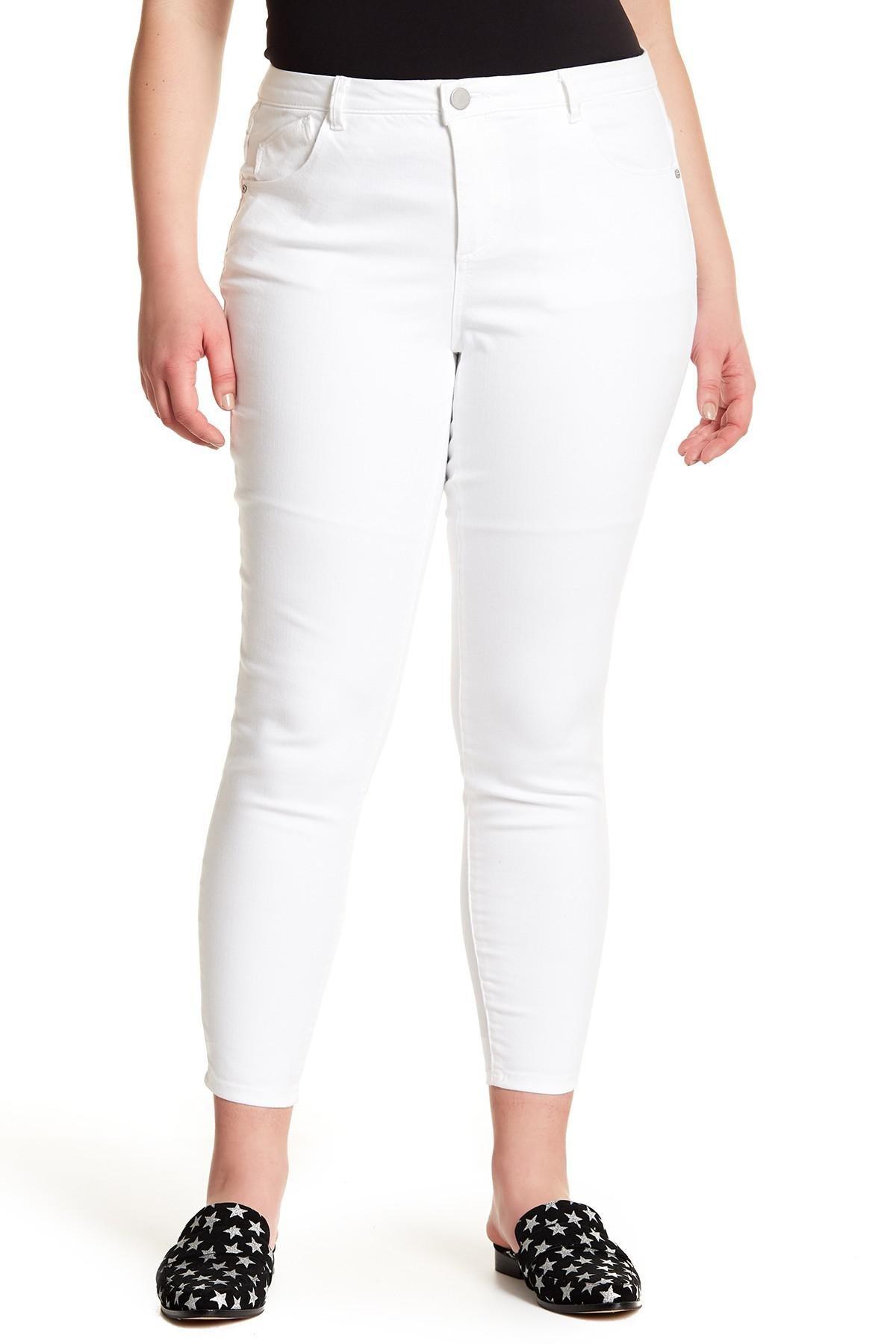 247f86bdb4fd2 Democracy. Women s White High Rise Tummy Control Ankle Jeans (plus Size)