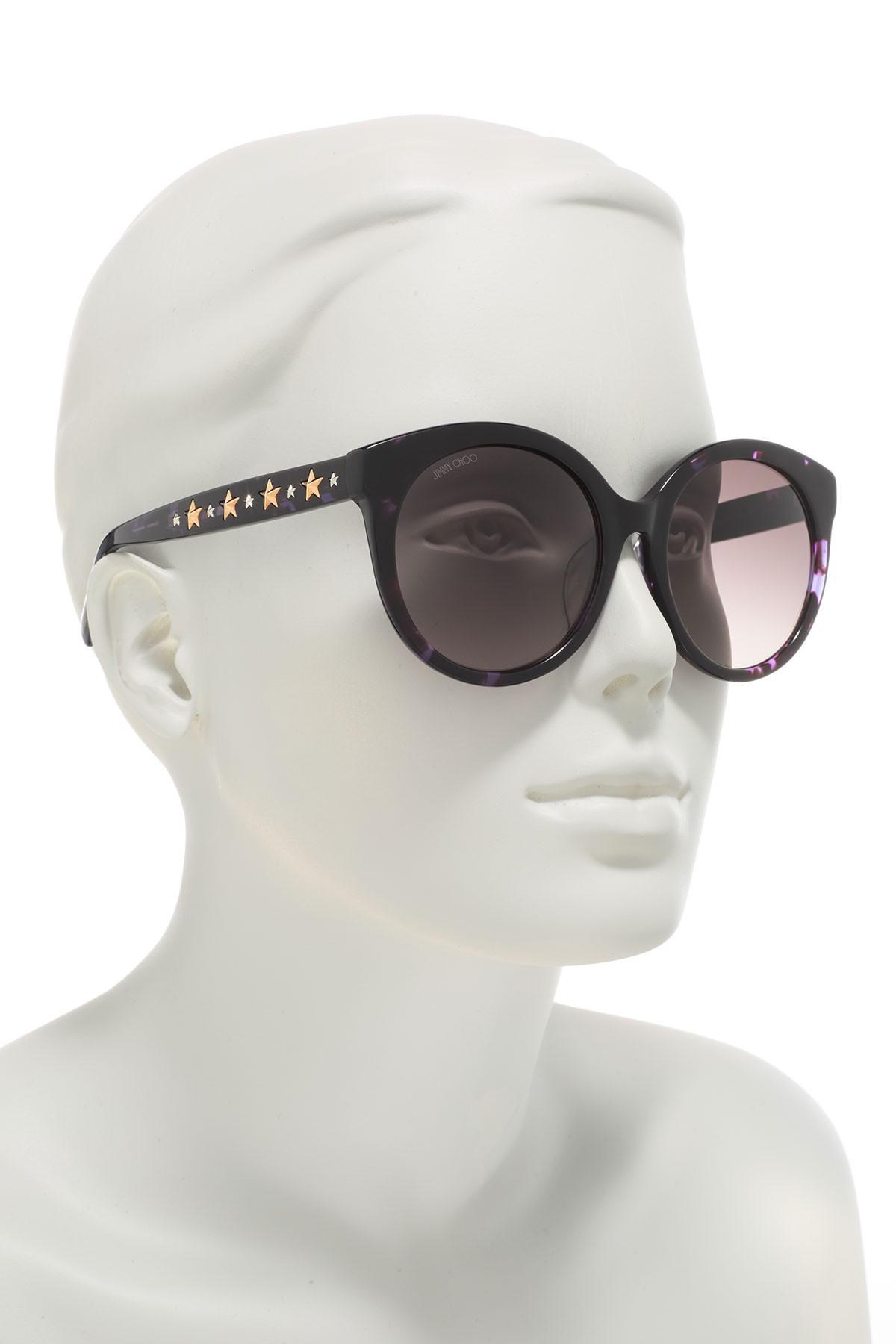 adbcfdd25f2 ... Brown Star Studded 54mm Round Sunglasses - Lyst. View fullscreen