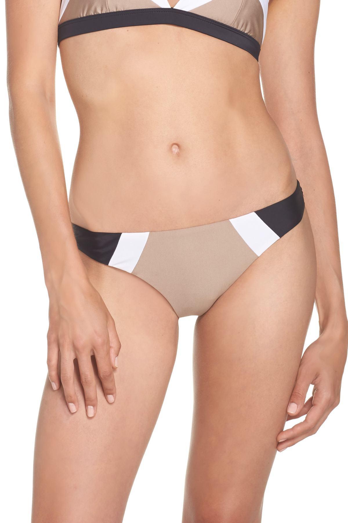 e3216c6cceb Lyst - Pilyq Teeny Colorblock Bikini Bottoms