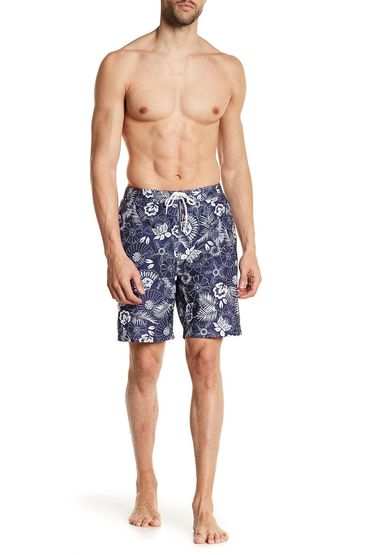 366f22dfe8 Lyst - Trunks Surf And Swim Co Swami Seashell Paisley Swim Trunks in ...