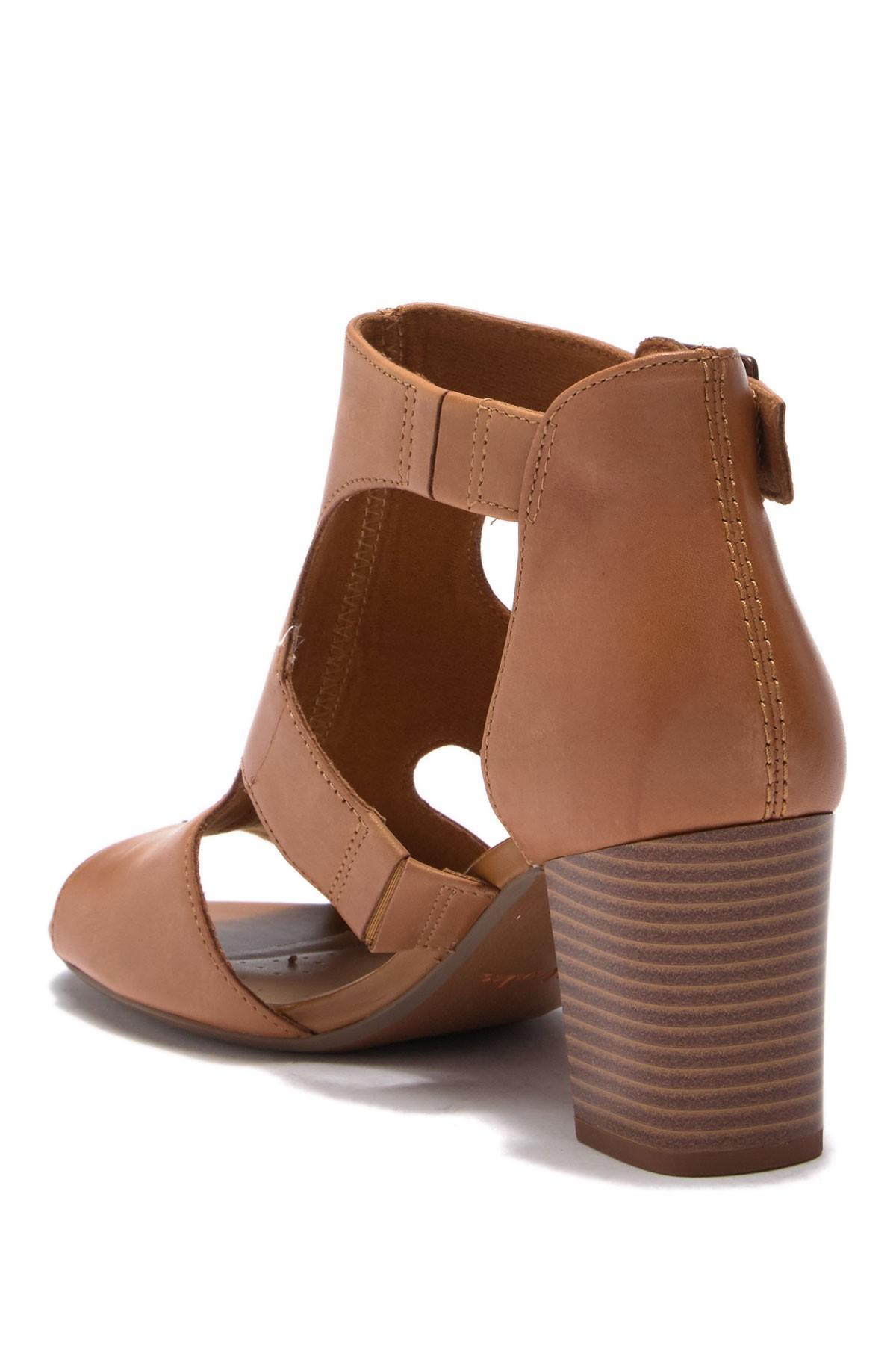 670f304cbf75 Clarks - Brown Deva Heidi Heeled Sandals - Lyst. View fullscreen