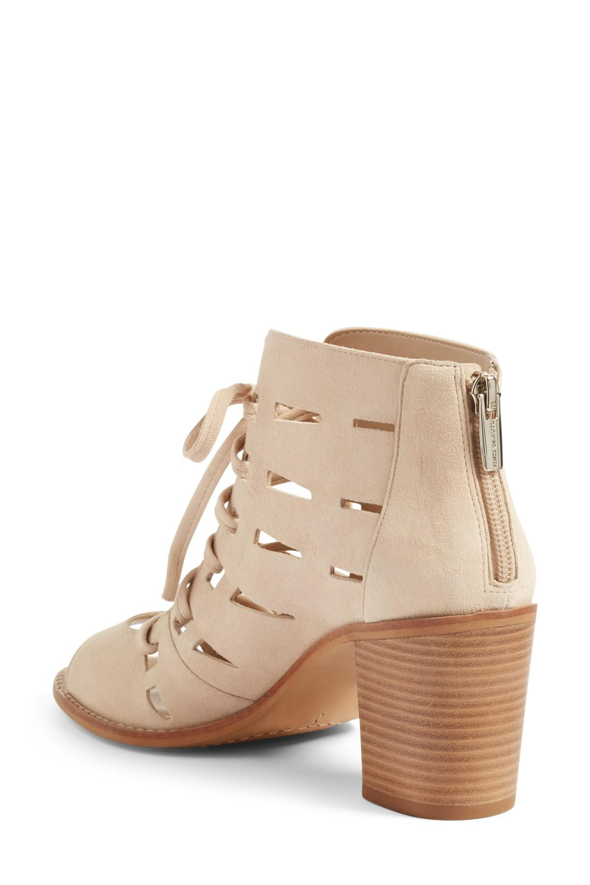 822af678efdc Lyst - Vince Camuto Tressa Perforated Lace-up Sandal in Natural