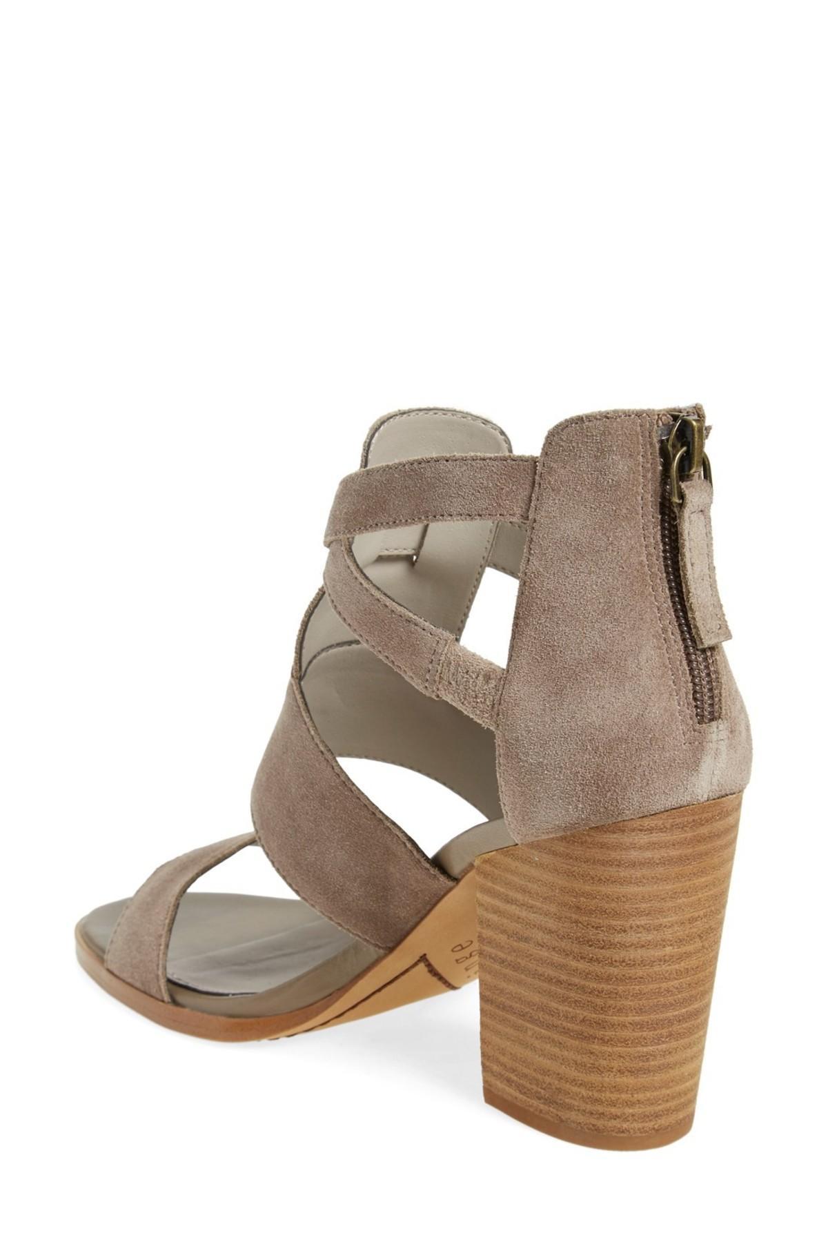 37ff57f772b Lyst - Hinge Cora Block Heel Sandal