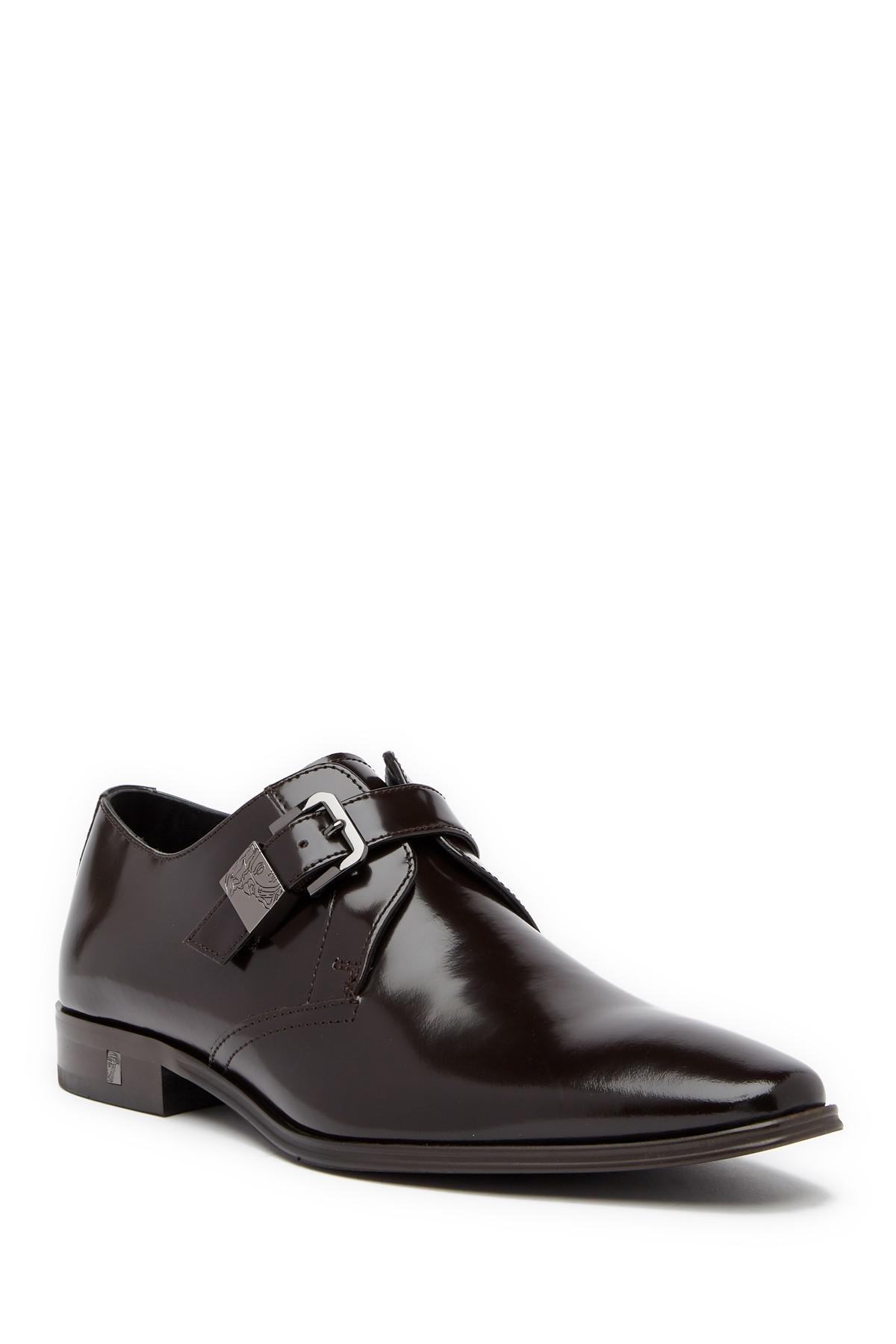 9ef1151a66b Versace Collection Buckle Leather Loafer in Black for Men - Lyst