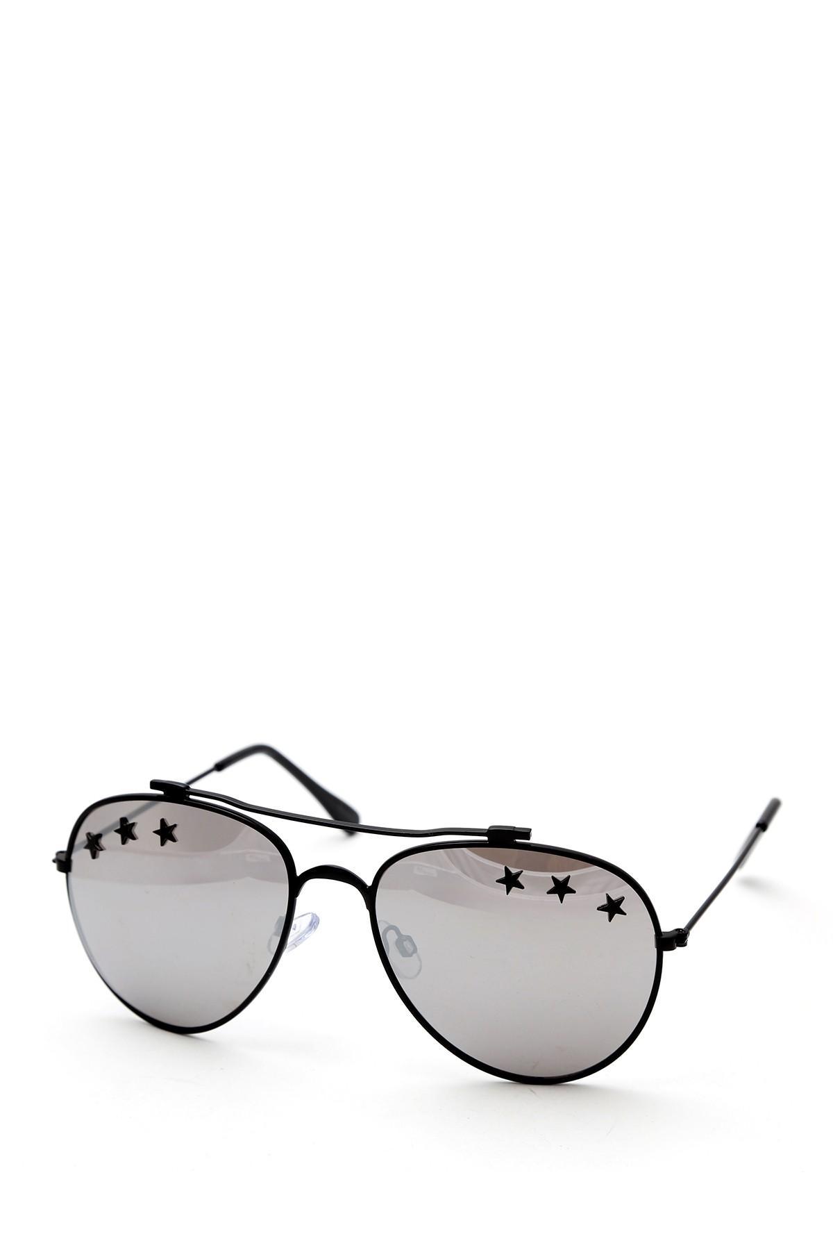 ebf035e27023e Lyst - Steve Madden 60mm Black Aviator Sunglasses in Black