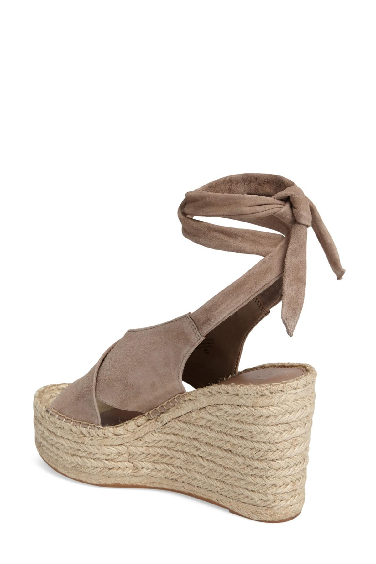 f5a2269e042e Lyst - Marc Fisher Andira Platform Wedge Sandal in Brown