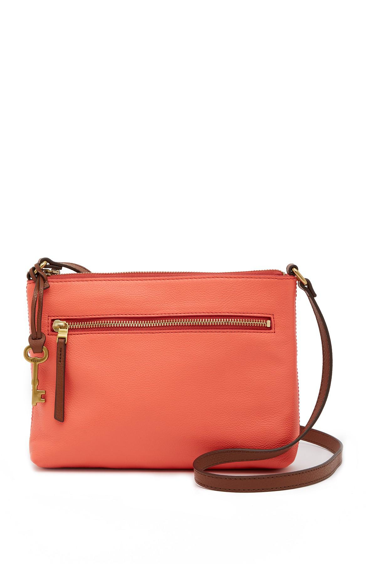545421d630fd Lyst - Fossil Fiona Small Crossbody Bag in Red