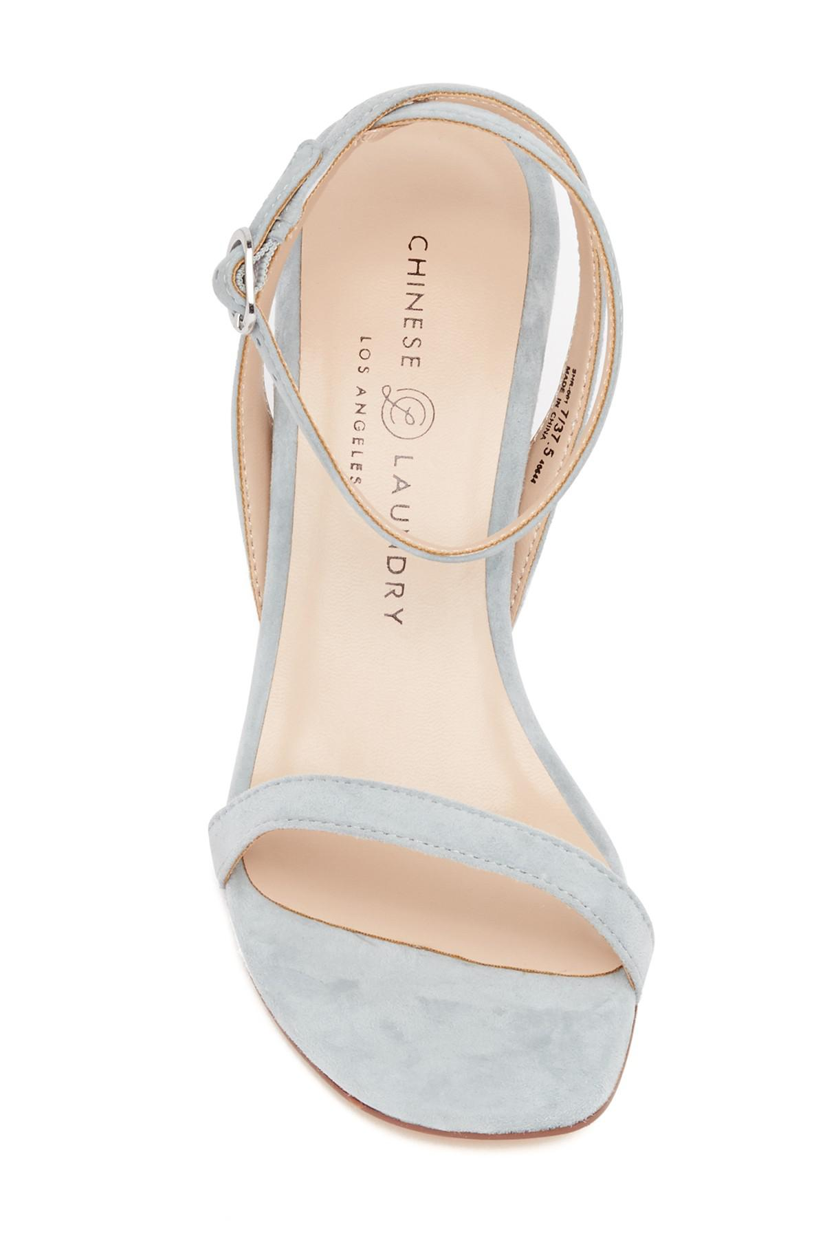 7ca0713af1 Chinese Laundry Shanie Clear Heel Sandal in Blue - Lyst