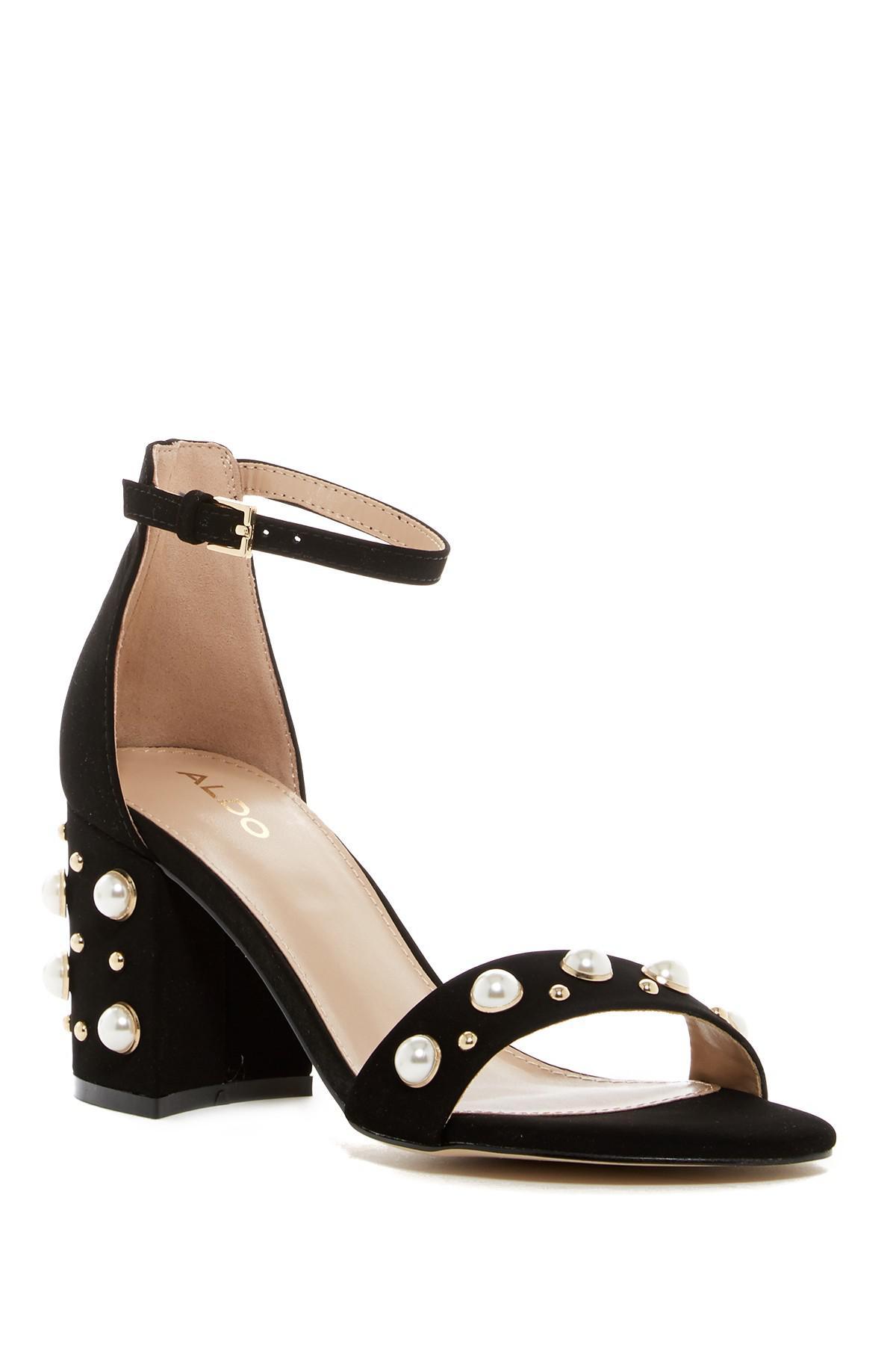 Lyst - ALDO Majorca Embellished Sandal in Black
