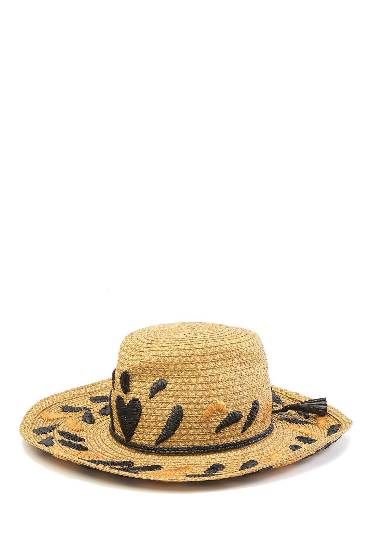 2f969a2a38d Lyst - Eric Javits Corsica Patterned Cowboy Hat