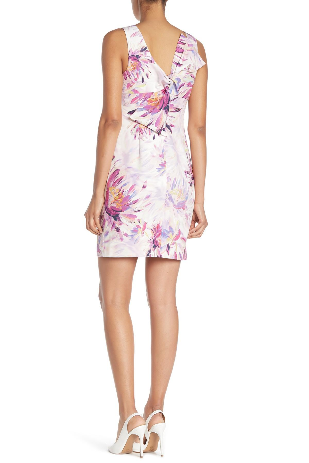 a9598182ff Trina Turk - Pink Clemente Floral Bow Back Dress - Lyst. View fullscreen