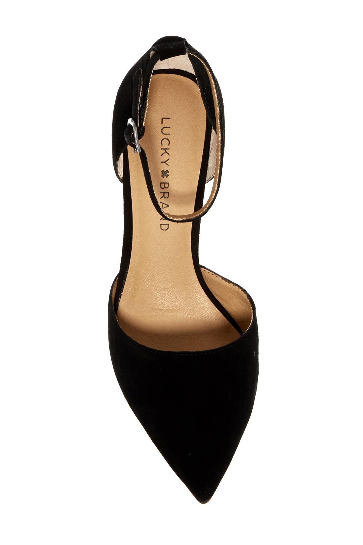 9f269cf7c5 Lucky Brand Tukko D'orsay Ankle Strap Pump in Black - Lyst