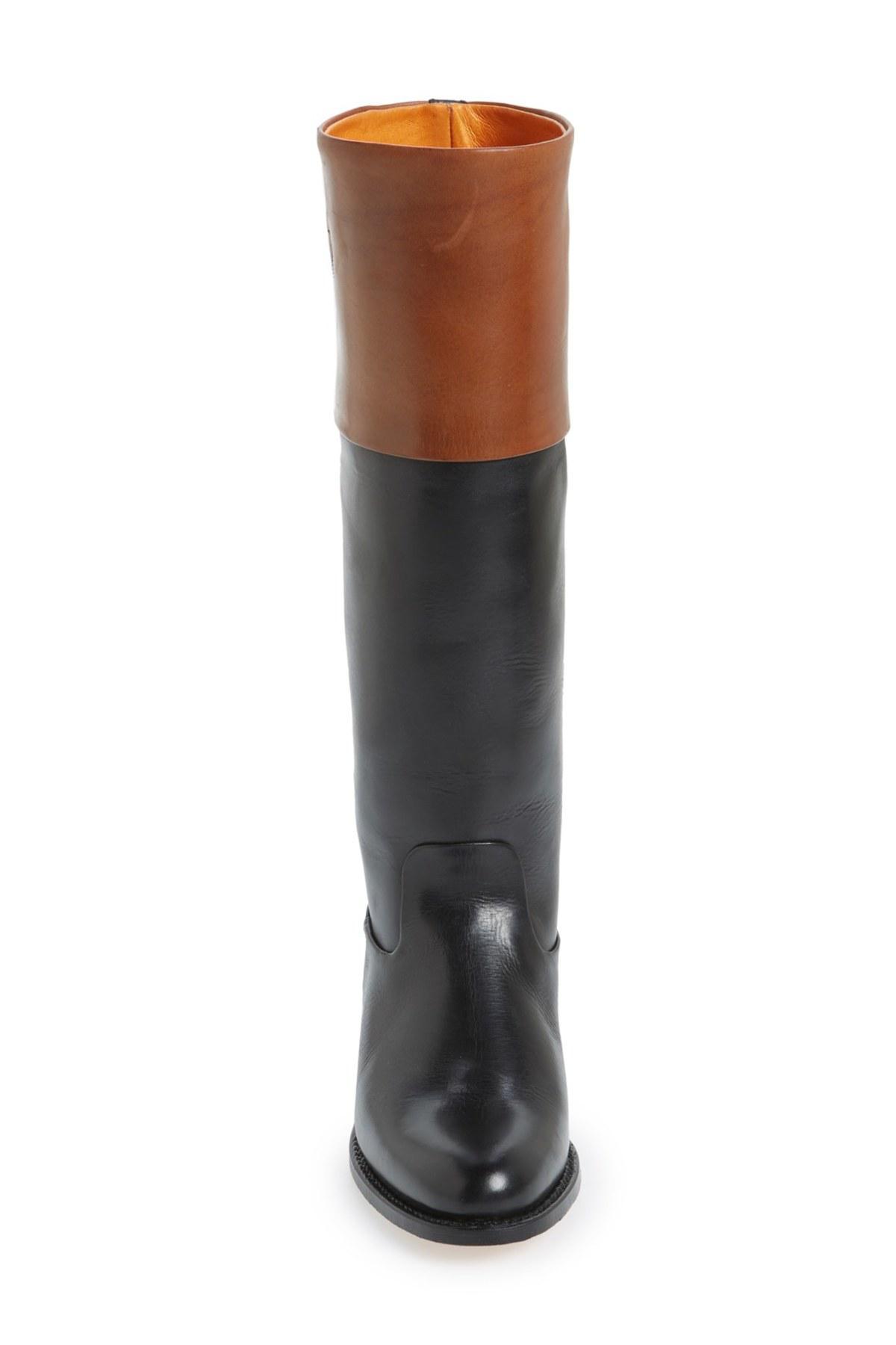 Frye Demy Cuff Riding Boot in Black