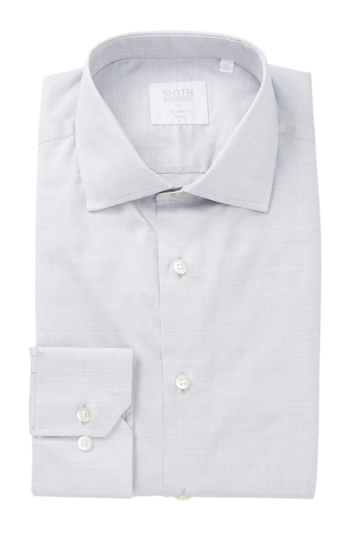 Lyst Smyth Gibson Square Dobby Tailored Fit Dress Shirt In Gray
