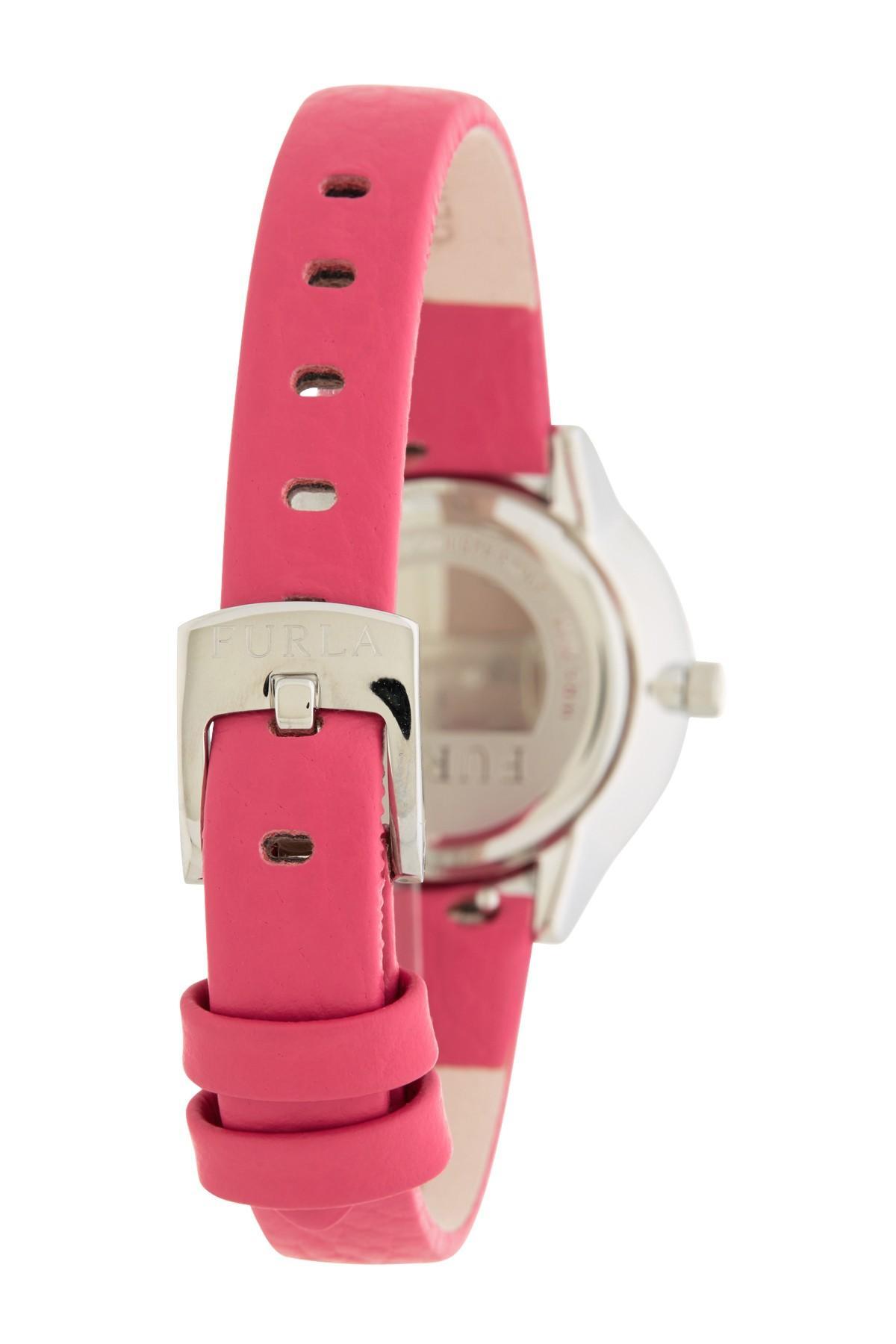 f66e35f065 Furla - Multicolor Women's Metropolis Leather Strap Watch, 31mm - Lyst.  View fullscreen