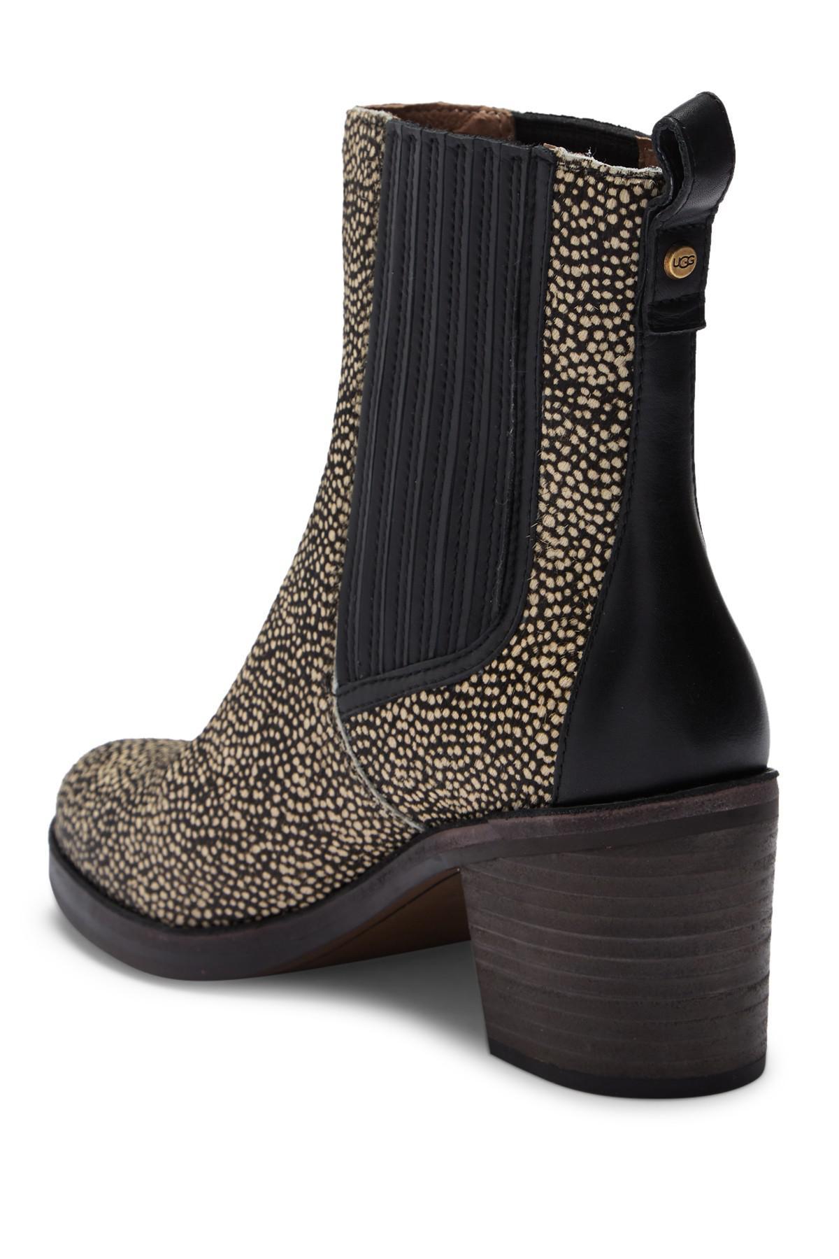 820466e3b0b UGG Camden Exotic Genuine Calf Hair Block Heel Boot - Lyst