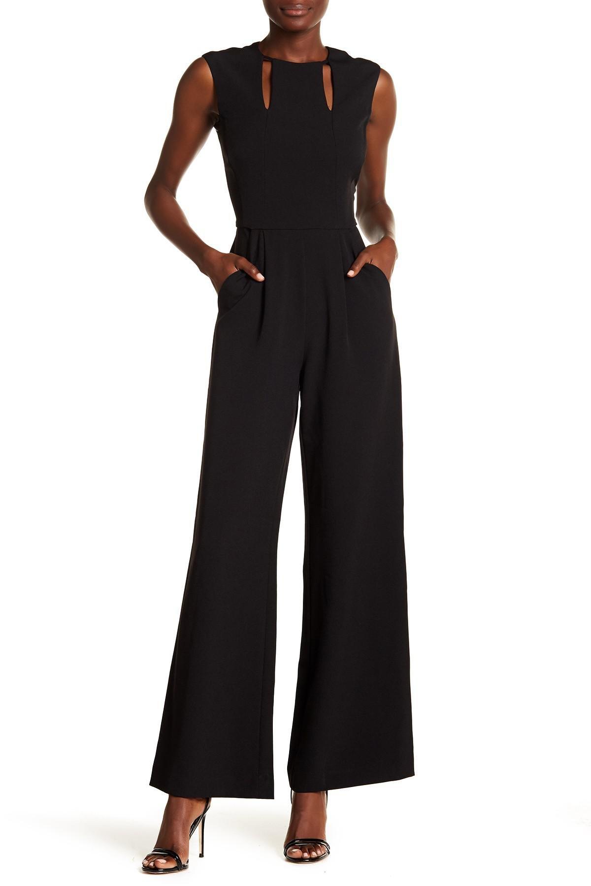 2f819e53398a Lyst - Tahari Cutout Bust Sleeveless Jumpsuit in Black