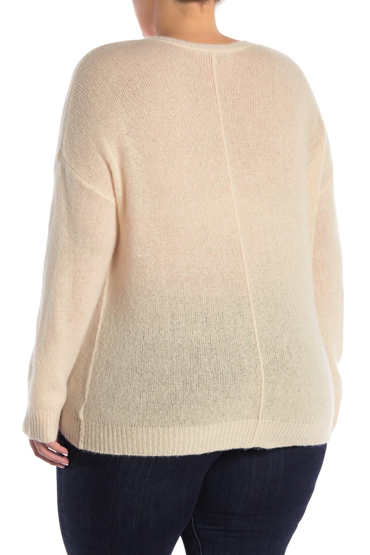 94a73bb64fb Naked Cashmere - Natural Crystal Cashmere Sweater (plus Size) - Lyst. View  fullscreen