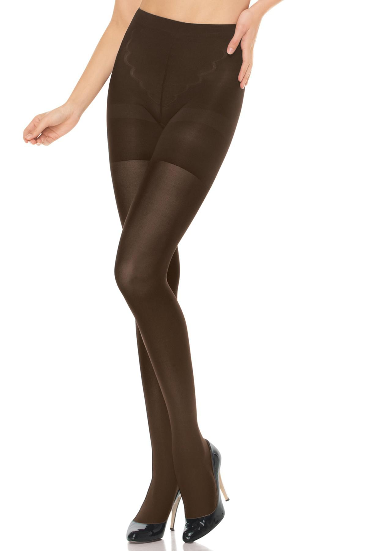 ae13ccd6bae Lyst - Spanx Red Hot Shaping Tights in Brown
