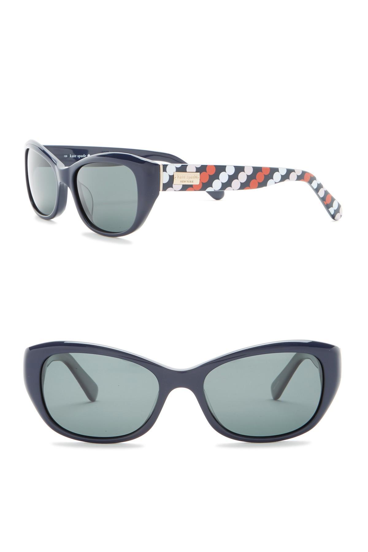 467e3c4a5d32 Kate Spade - Multicolor 51mm Keara Rectangle Cat Eye Sunglasses - Lyst.  View fullscreen
