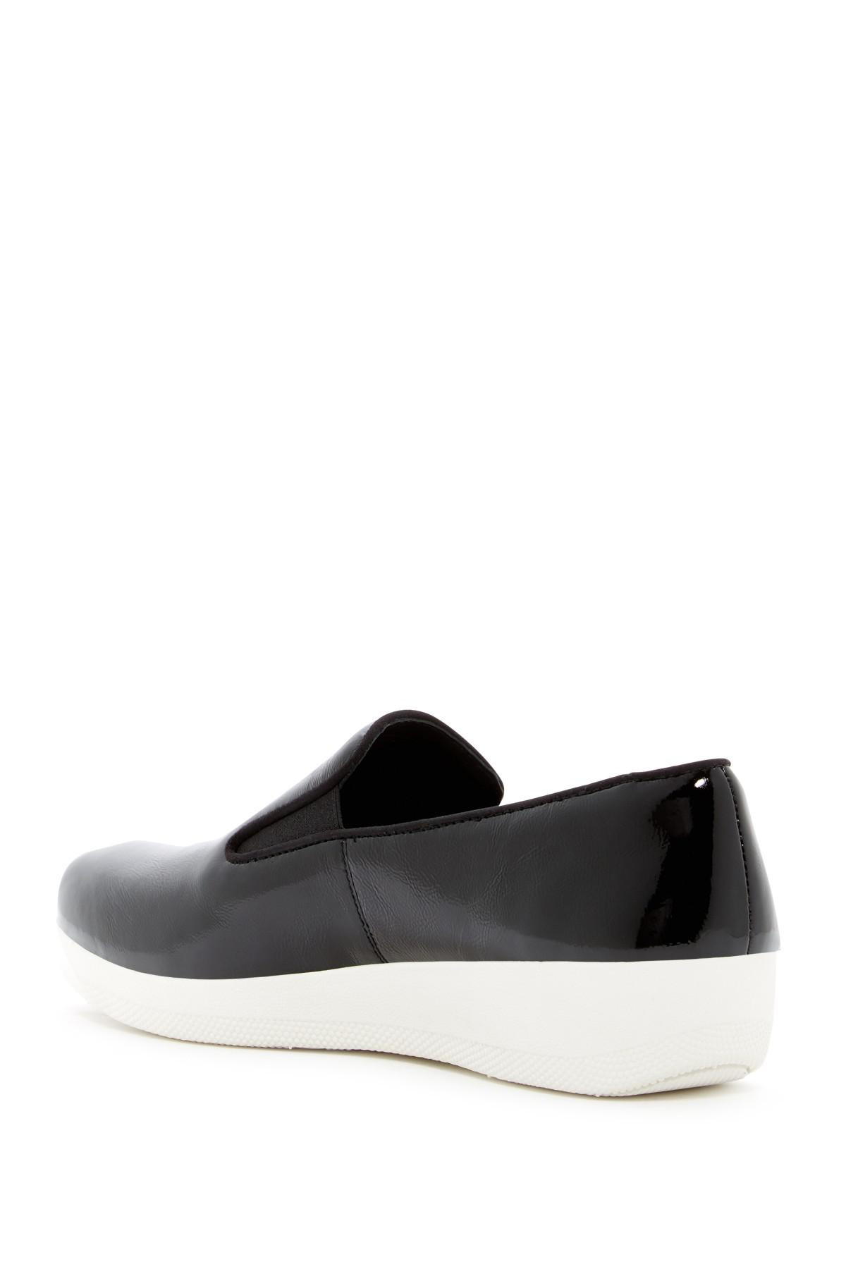 Fitflop Superskate Crinkle Leather Sneaker Loafer 3X1Jyy