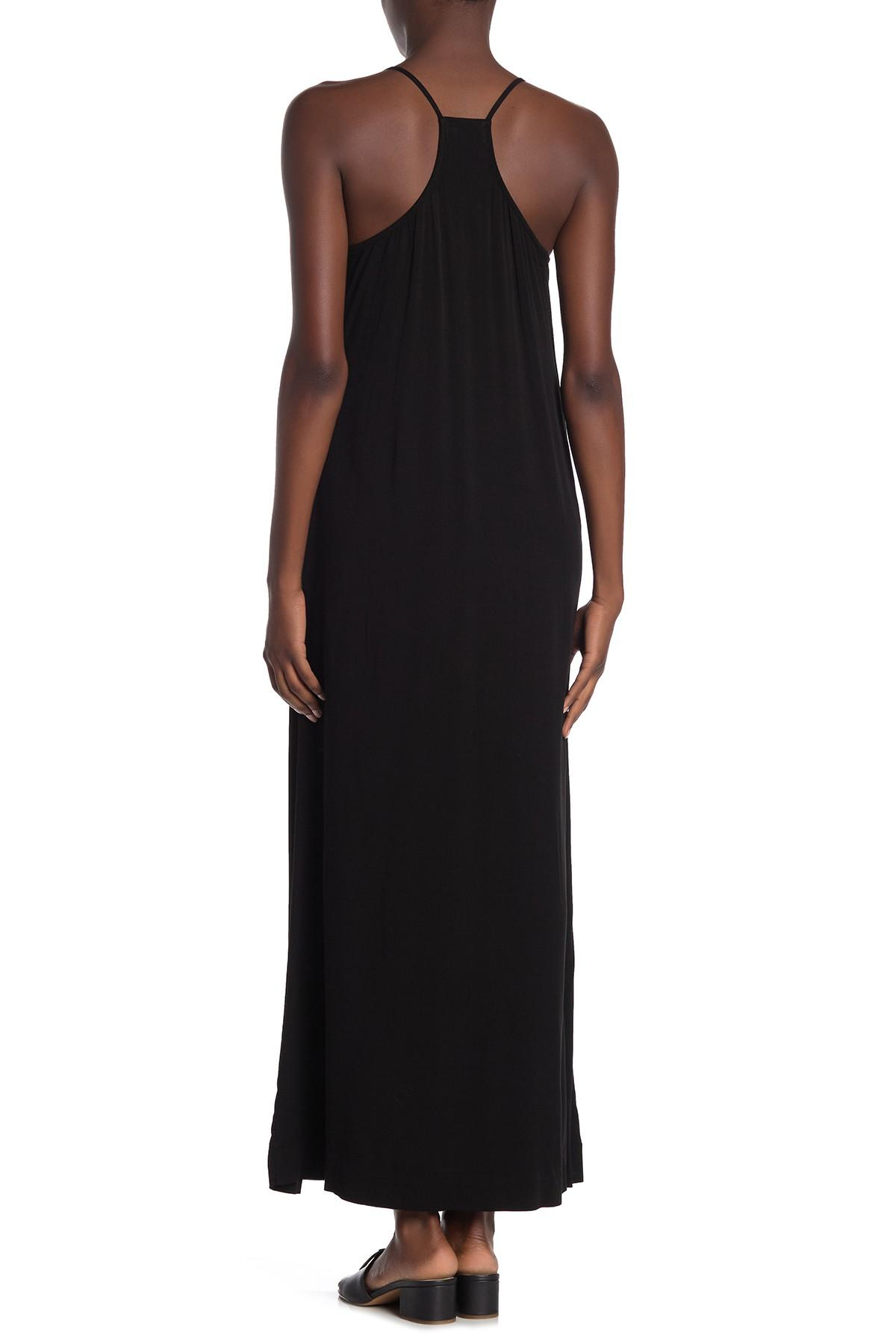 ae597e2de64 Michael Stars Rylie Rayon Babydoll Cami Maxi Dress in Black - Lyst
