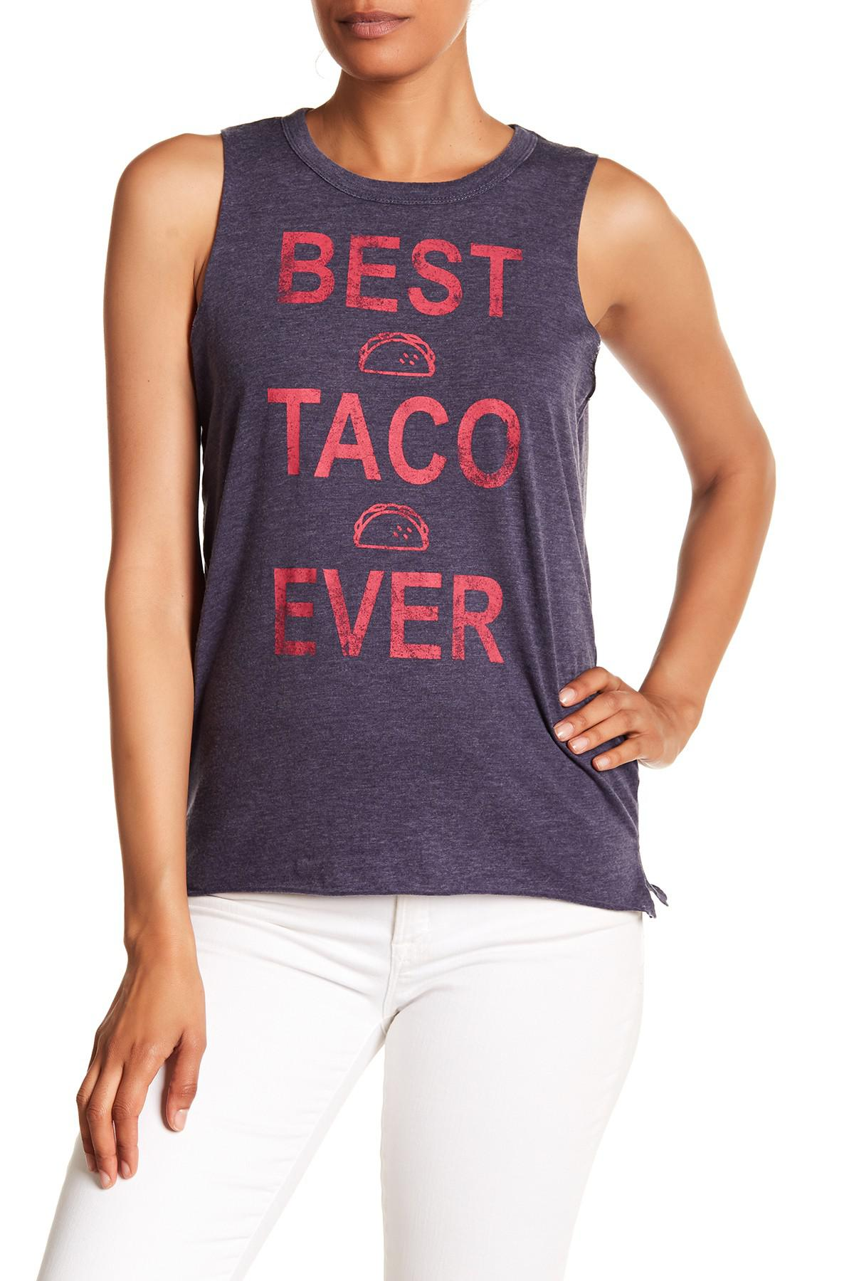 5bd7e0e96cfbb7 Lyst - Chaser Best Taco Ever Muscle Tank Top
