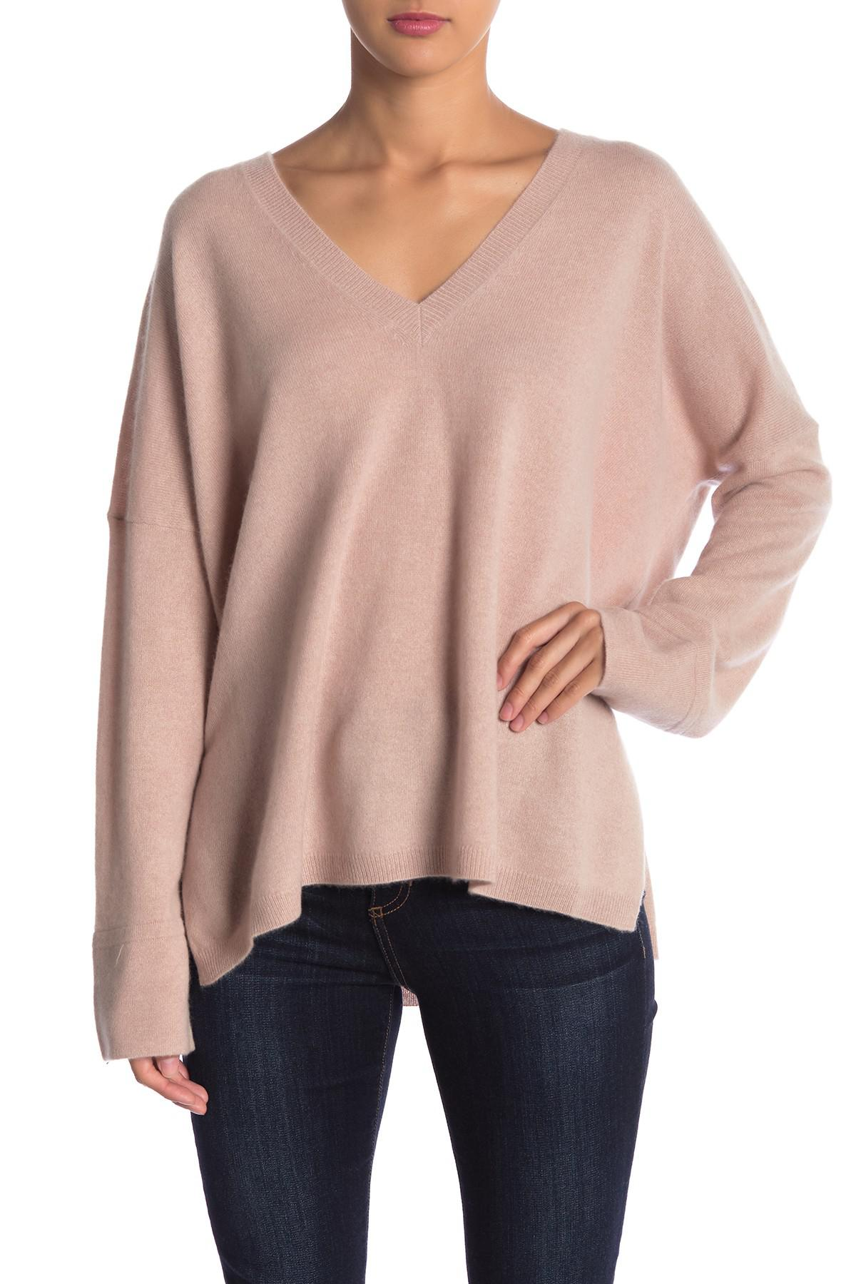 461a2269242 Lyst - 360cashmere Olivia V-neck Cashmere Sweater in Pink