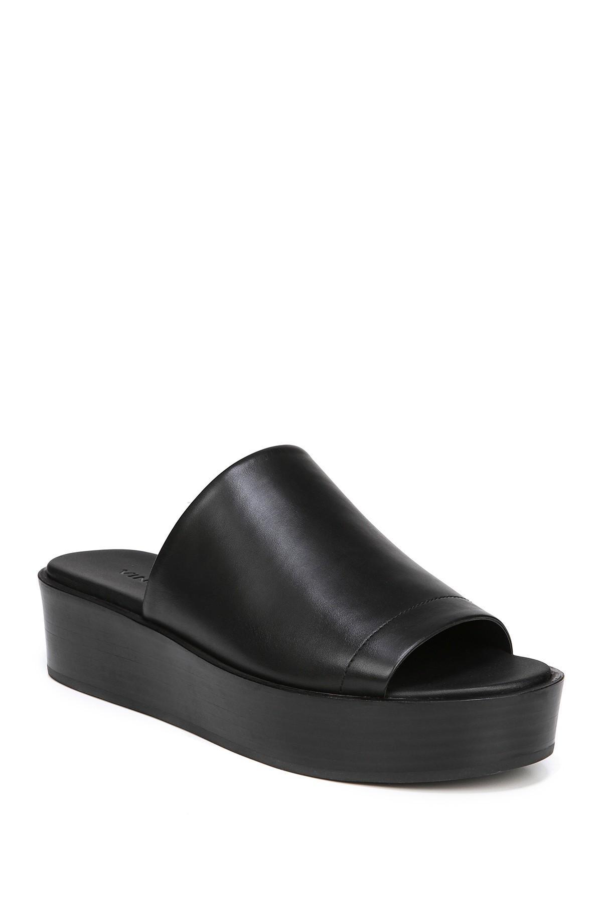 7a80334d2b6 Lyst - Vince Saskia Leather Platform Sandal in Black