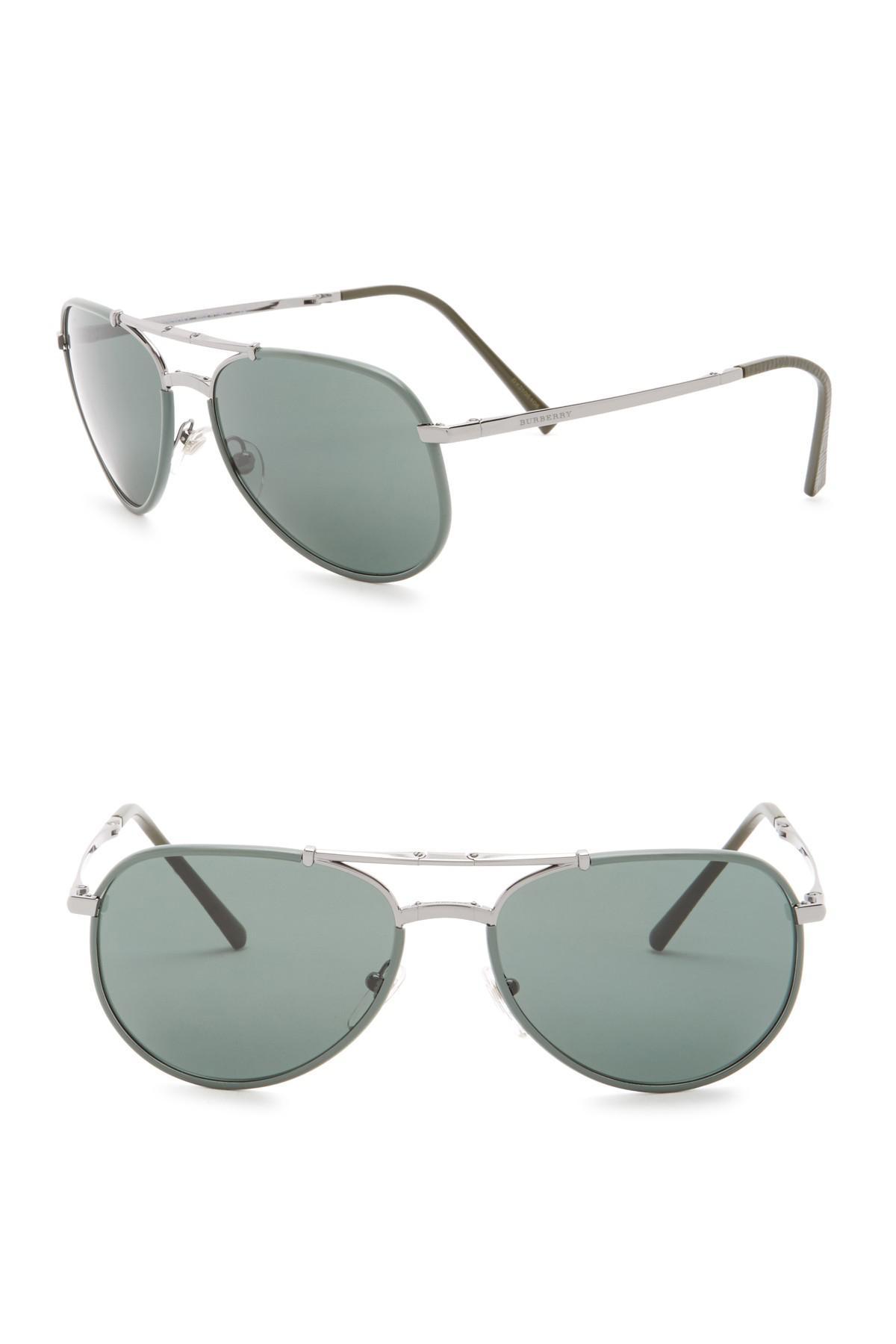 b0ab89efec7 Lyst - Burberry 58mm Folding Aviator Sunglasses