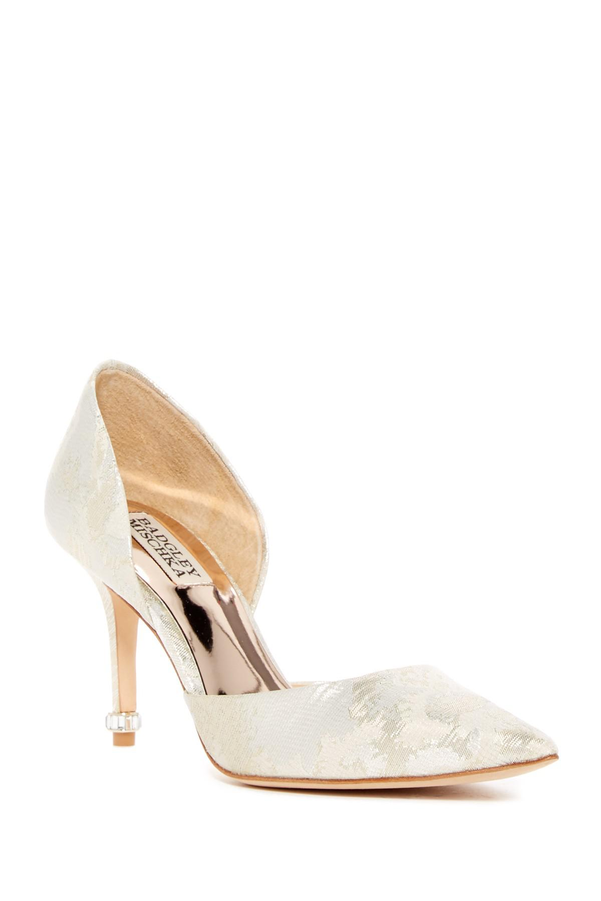 Badgley Mischka Naya d'Orsay Pumps free shipping wide range of ebay sale online for sale very cheap C1uHdAyP6