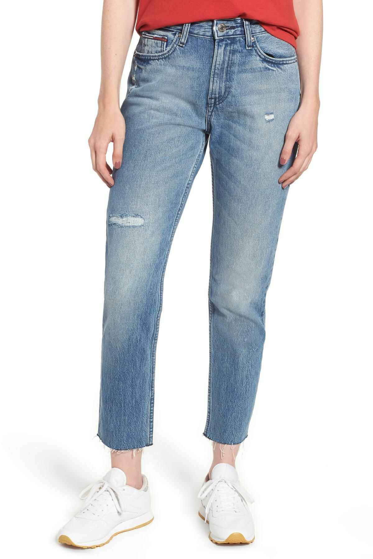 956cf95c Lyst - Tommy Hilfiger Izzy High Rise Slim Jeans in Blue