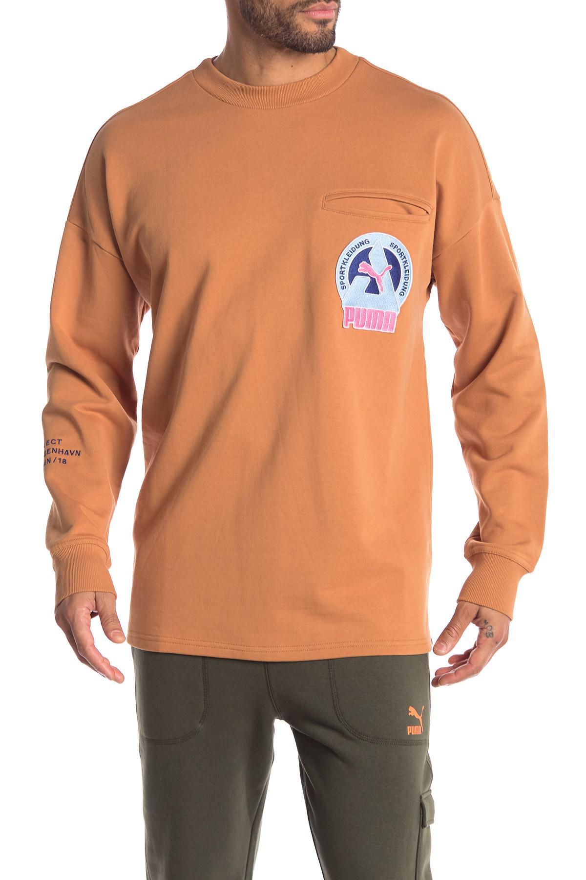 96806a64e4e5 Lyst - PUMA Han Chest Pocket Pullover in Orange for Men