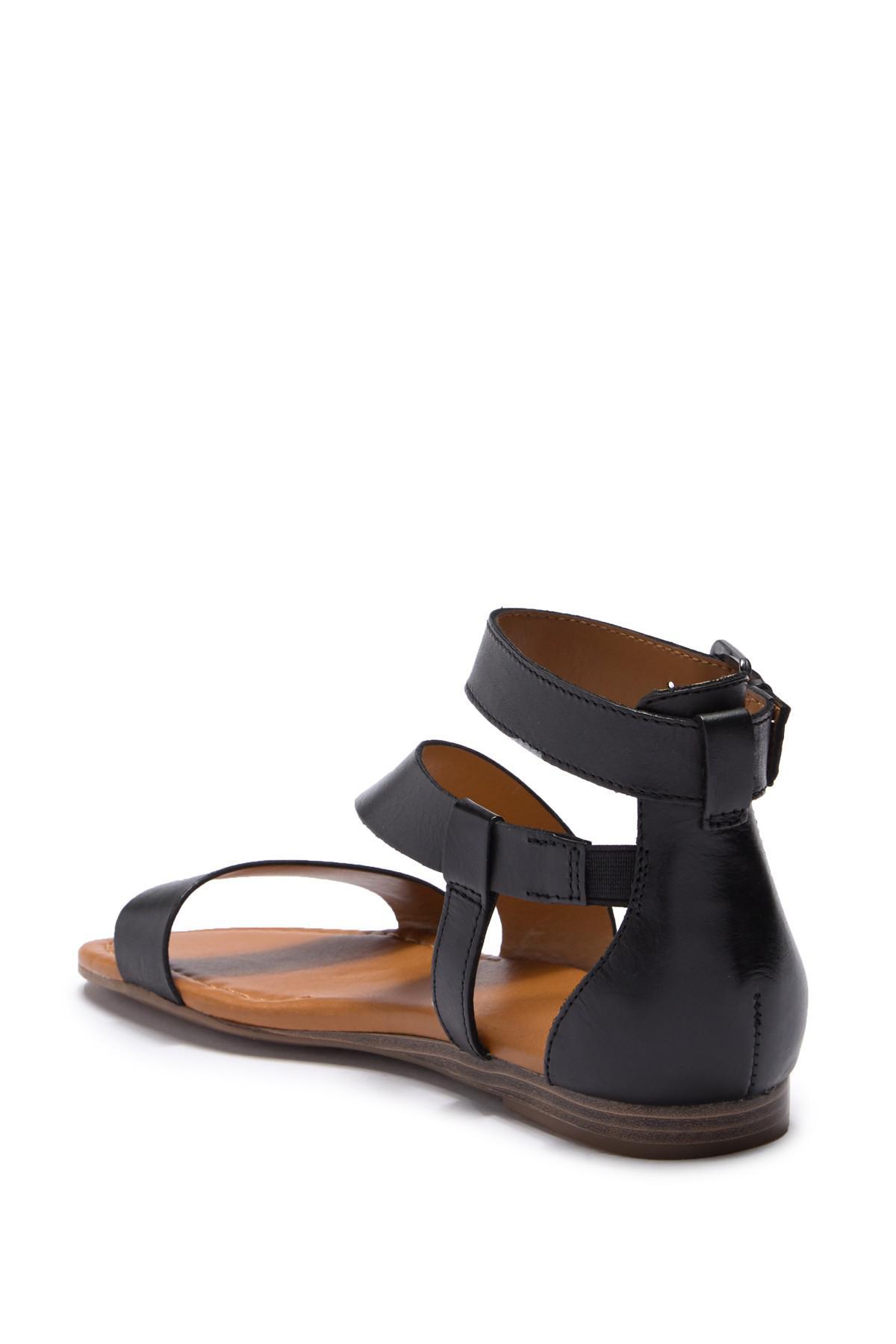 2193d77bff4d Franco Sarto - Black Griffith Leather Sandal - Lyst. View fullscreen