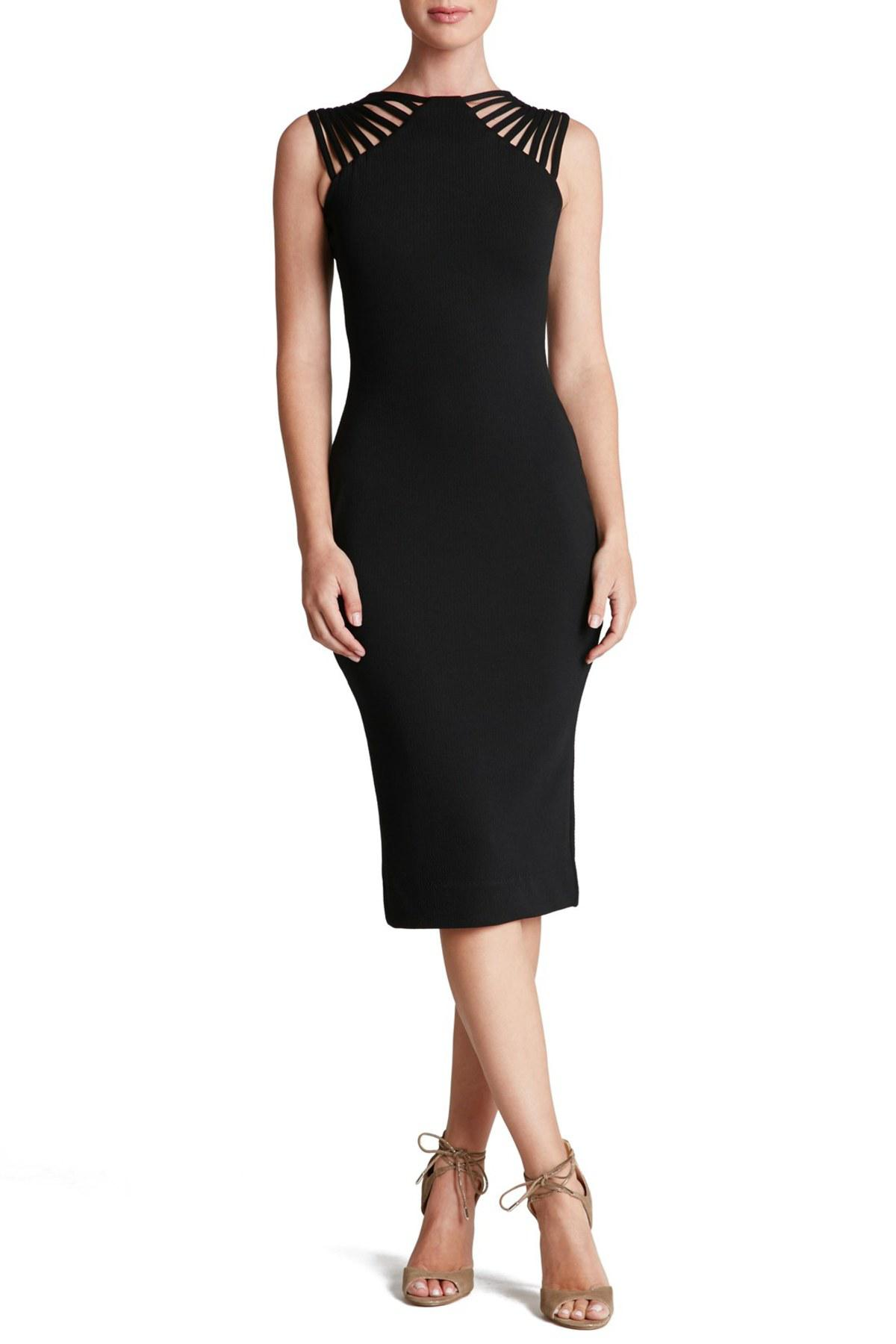 e2f0d363202 Dress the Population Gwen Midi Dress in Black - Lyst