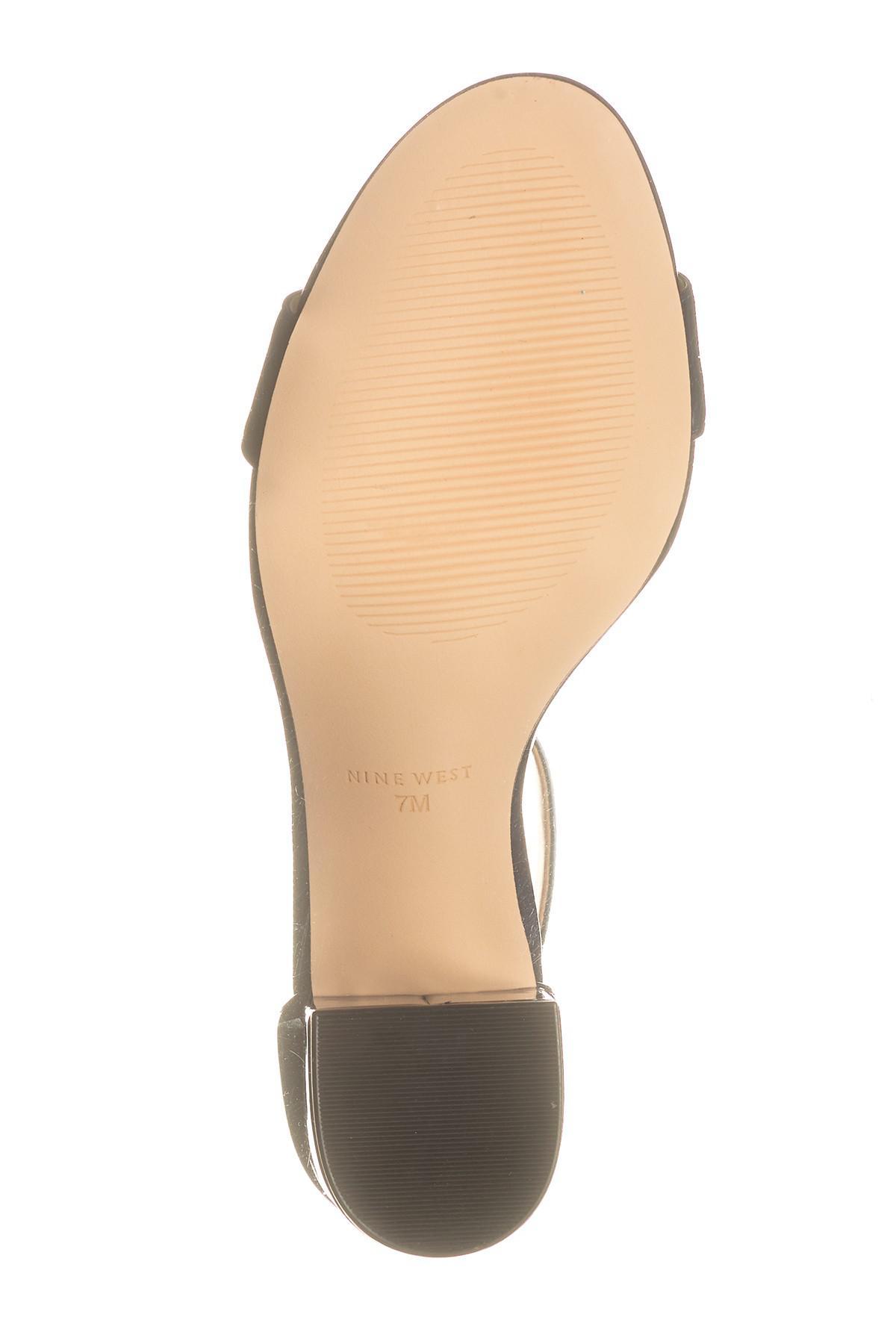 757dac5140e Lyst - Nine West Fields Ankle Strap Block Heel Sandal in Blue