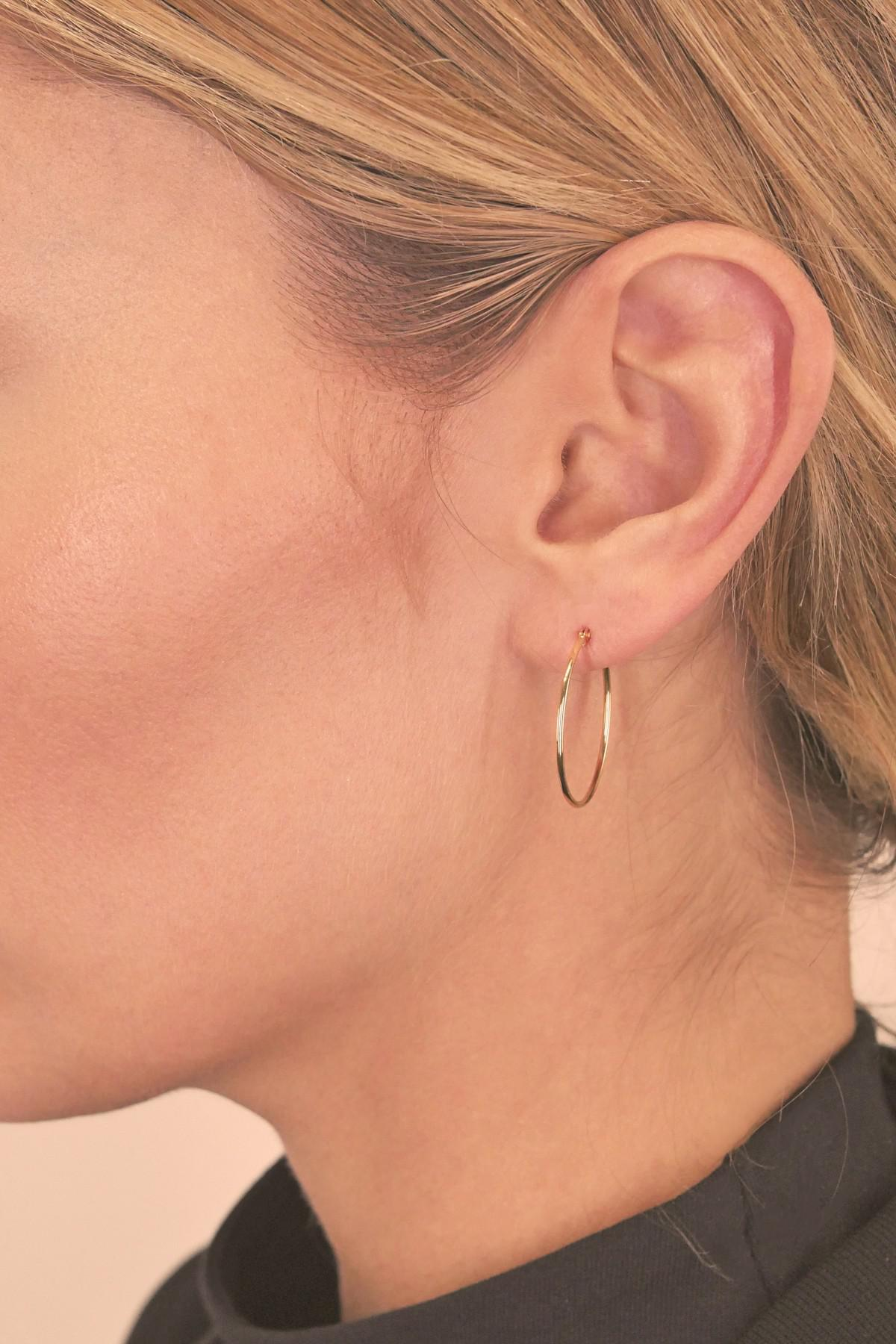 fc4a5f8388ecc White Gold Skinny Hoop Earrings - The Best Produck Of Earring