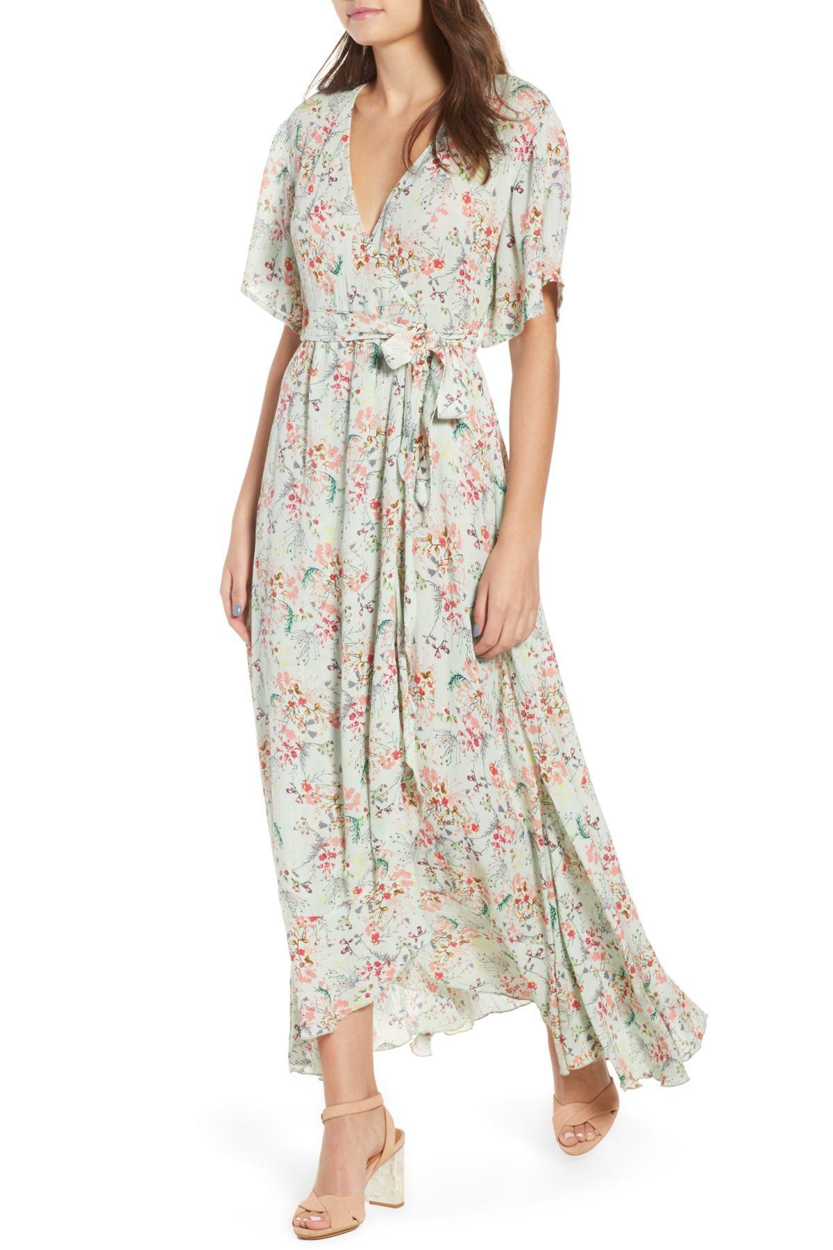 47b5c9e1858 Lyst - Raga Secret Escape Floral Faux Wrap Maxi Dress - Save 31%