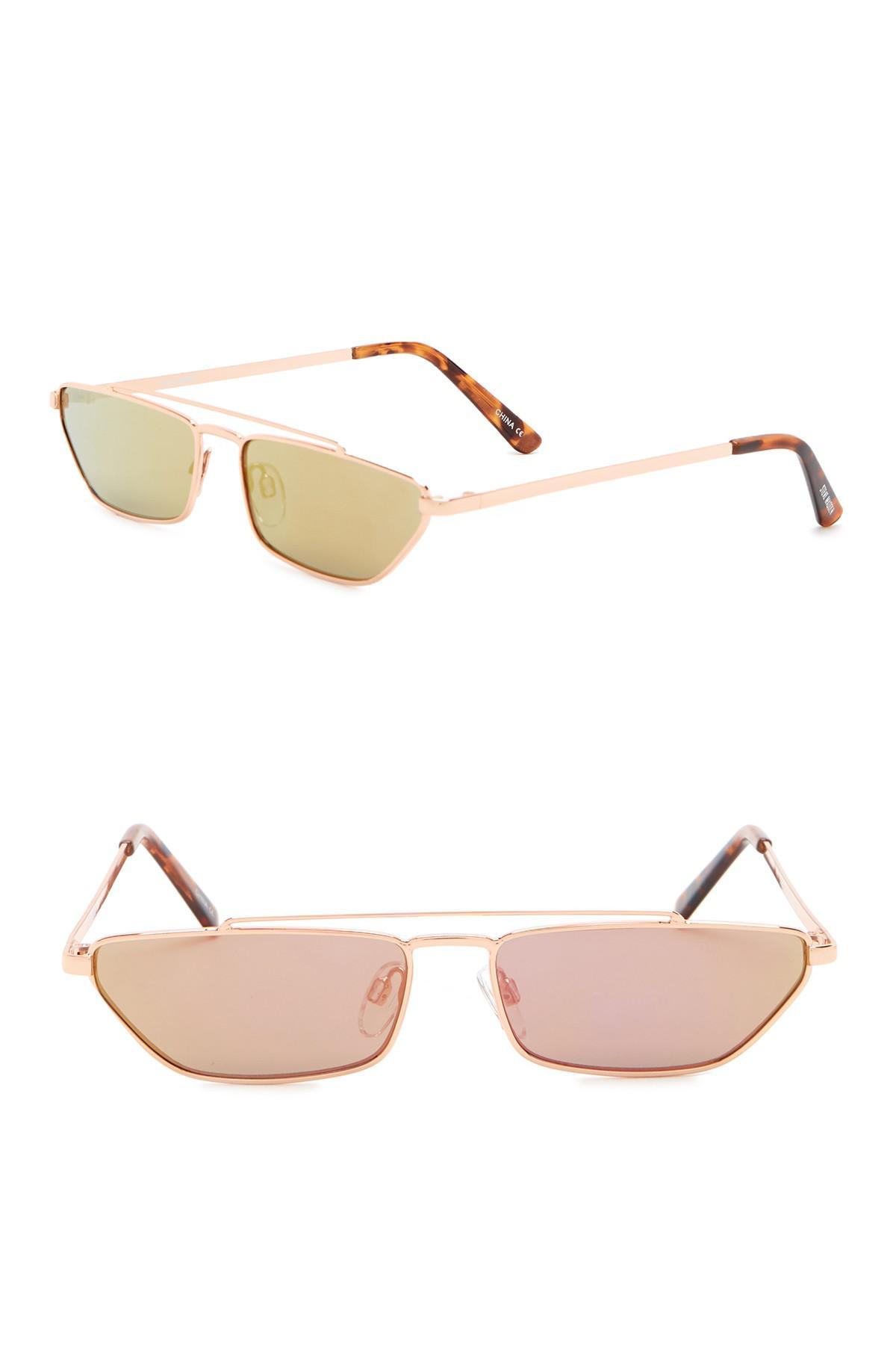 7400dedce3c3 Steve Madden - Pink 27mm Rectangle Novelty Sunglasses - Lyst. View  fullscreen