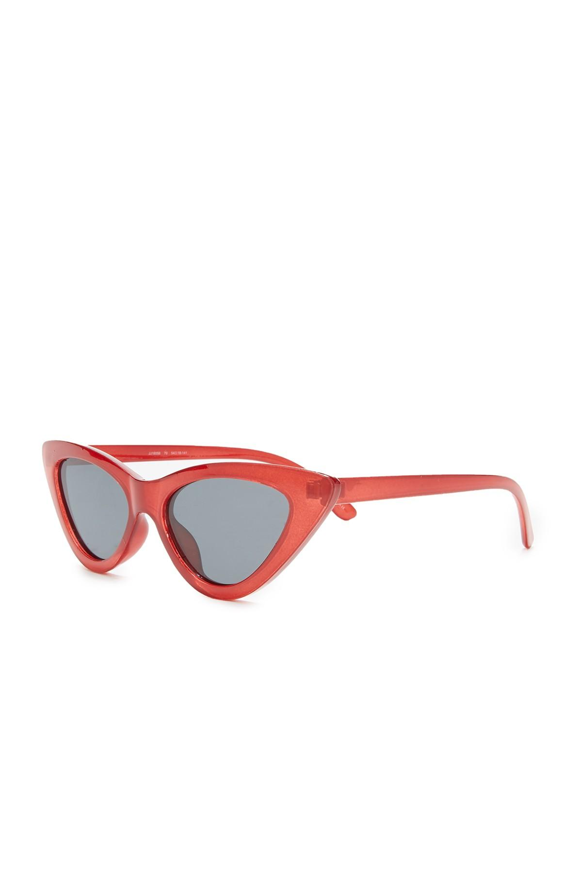 4a84bcaa86 Joe s Jeans - Red Polarized 53mm Narrow Cat Eye Sunglasses - Lyst. View  fullscreen