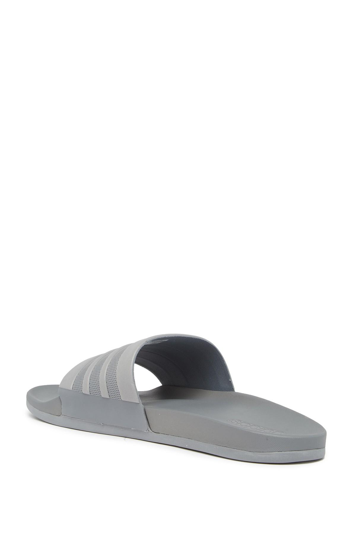 a5228bc45d1029 Adidas - Gray Adilette Cloudfoam Mono Sport Slide Sandal (men) for Men -  Lyst. View fullscreen