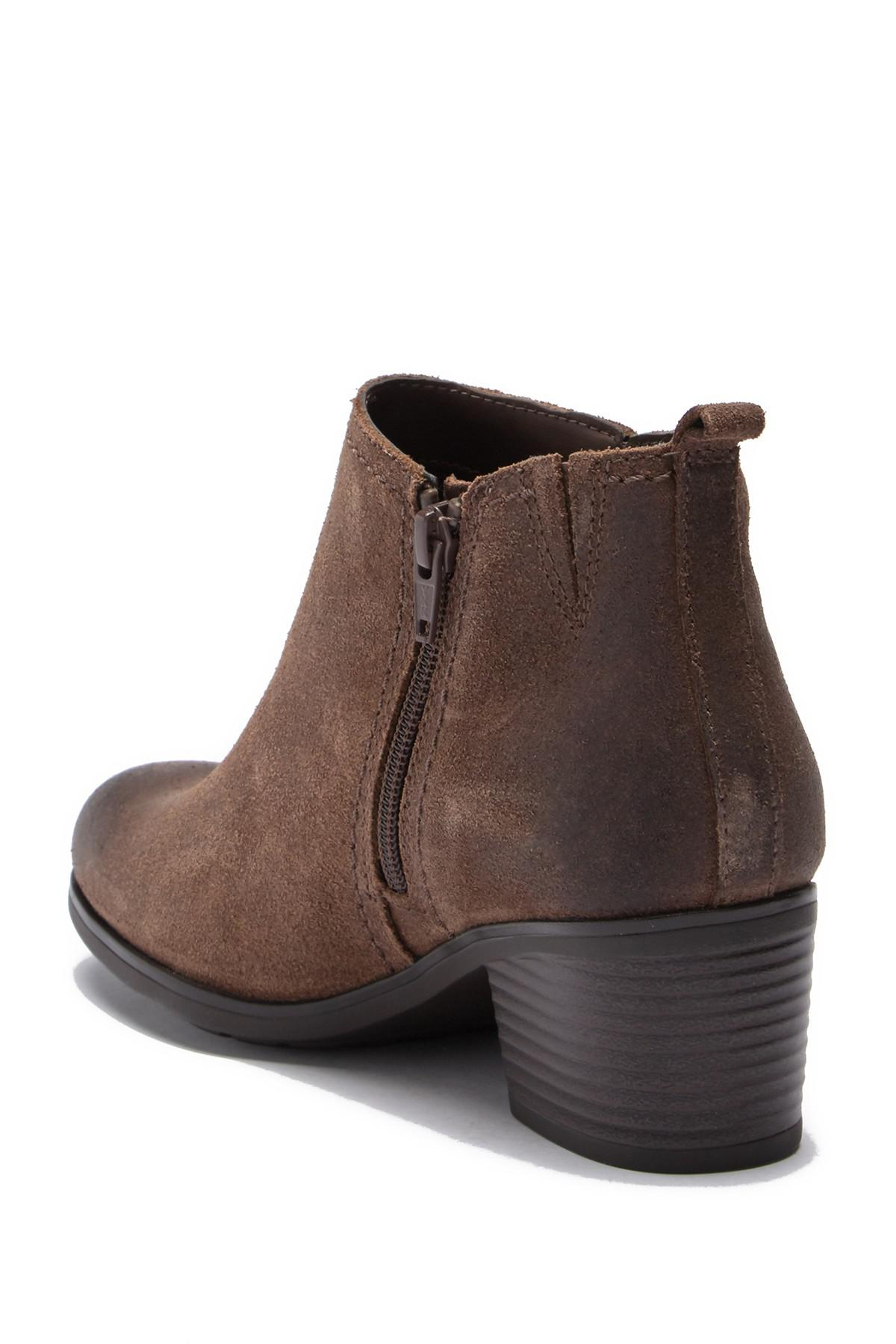 d8cd236a0e8c5 ... Side Zip Leather Ankle Bootie - Wide Width Available - Lyst. View  fullscreen