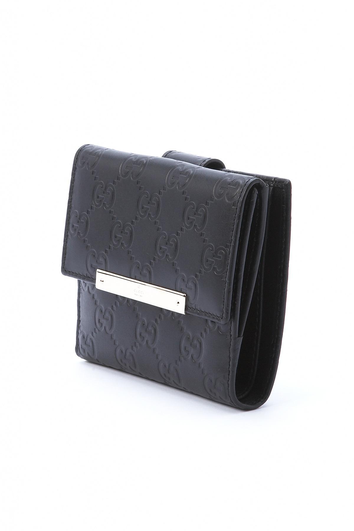 f6b3f2ccd838 Lyst - Gucci Medium French Purse Wallet in Black for Men