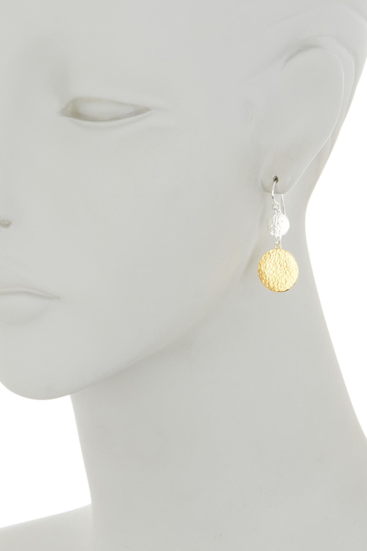 fcbbf6f1b Lyst - Gurhan 24k Gold & Sterling Silver Two-tone Lush Flake Double ...