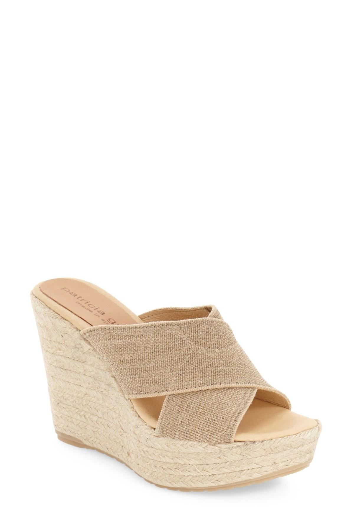 7229b7abc35 Lyst - Patricia Green Nora Espadrille Wedge Sandal in Natural