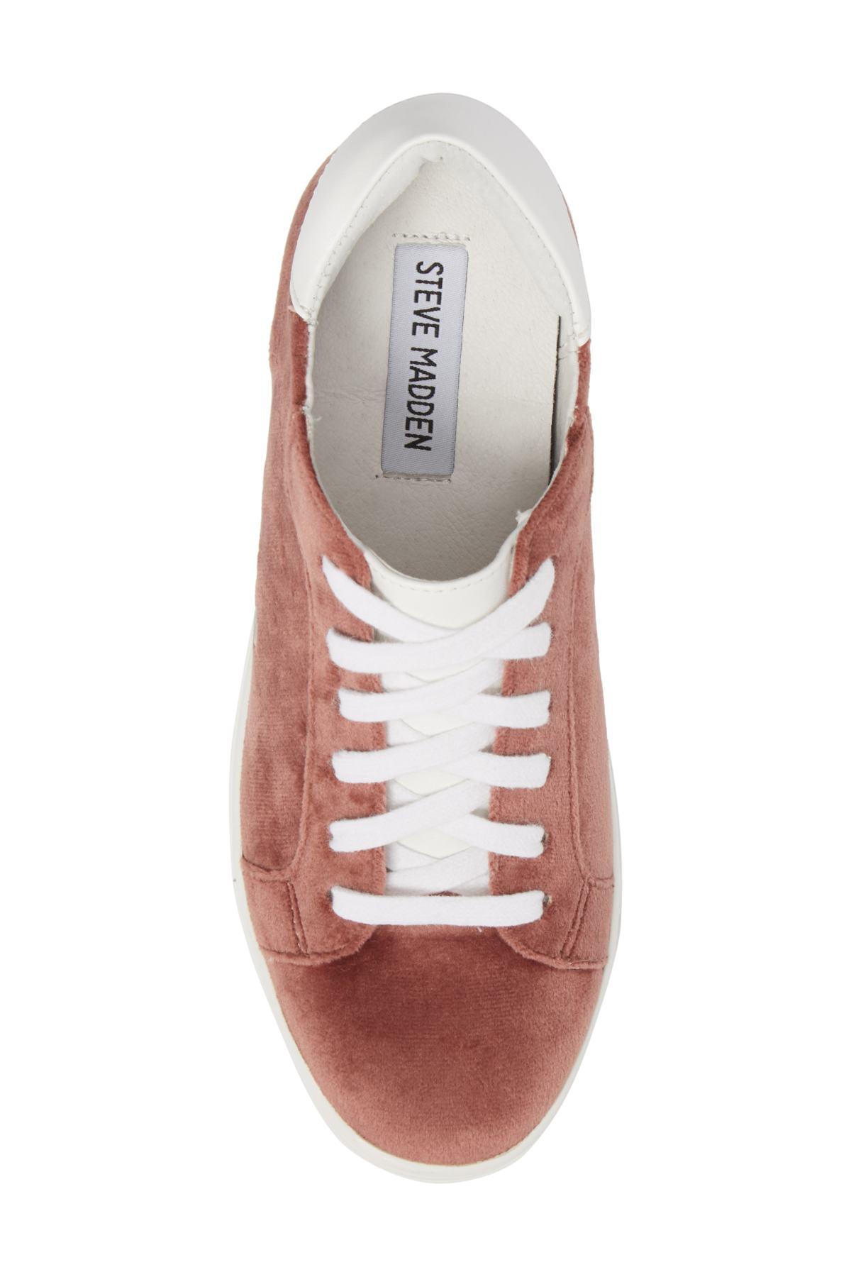 6512c40f9c2 Steve Madden Velvet Steal Concealed Wedge Sneaker - Lyst