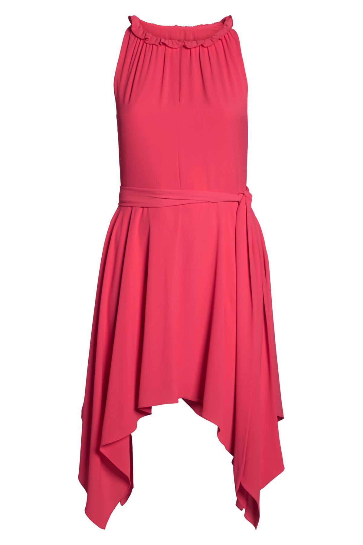 e7b9fd08c75d9 Eliza J - Pink Handkerchief Hem Fit   Flare Dress (plus Size) - Lyst. View  fullscreen